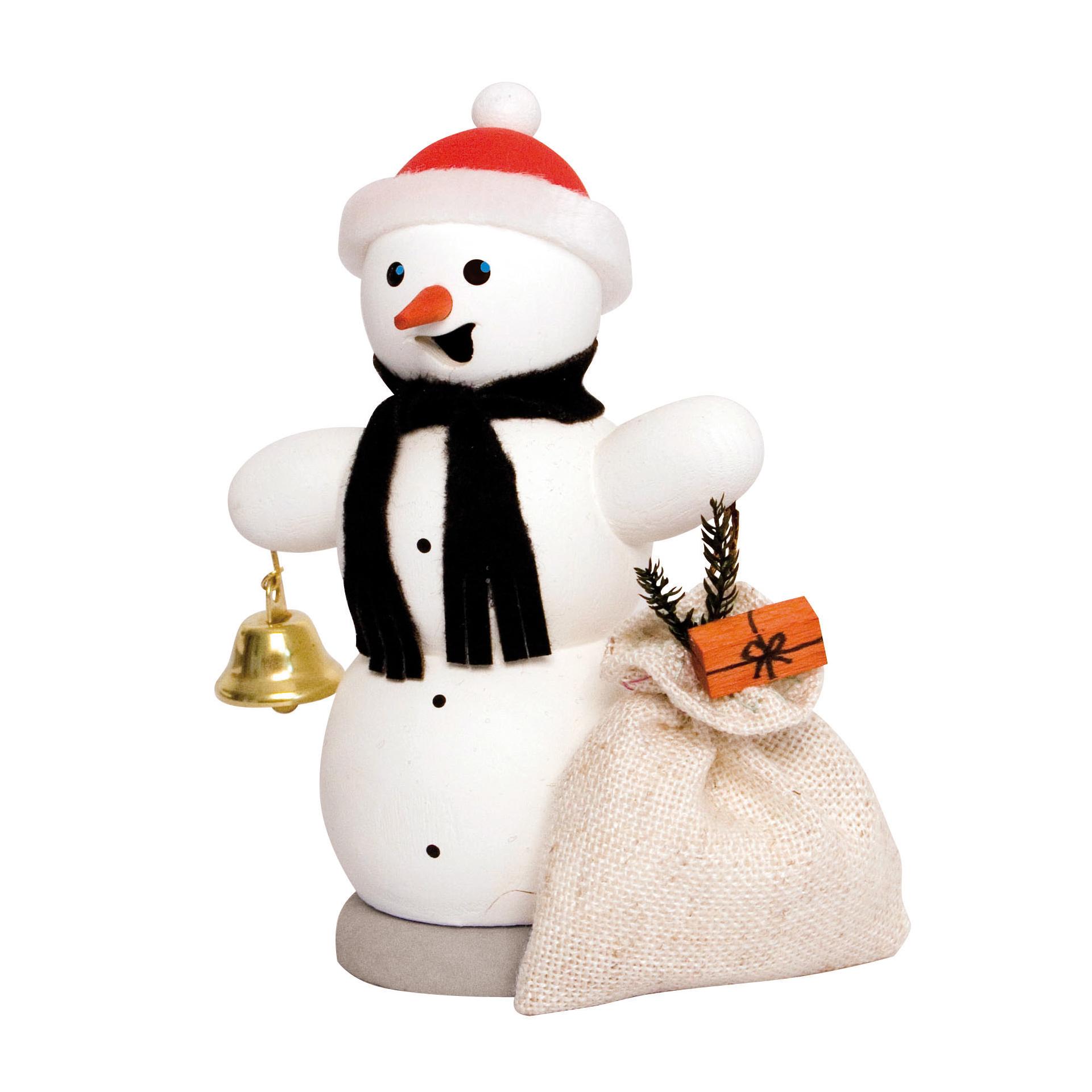 Schneemann mit Geschenksack