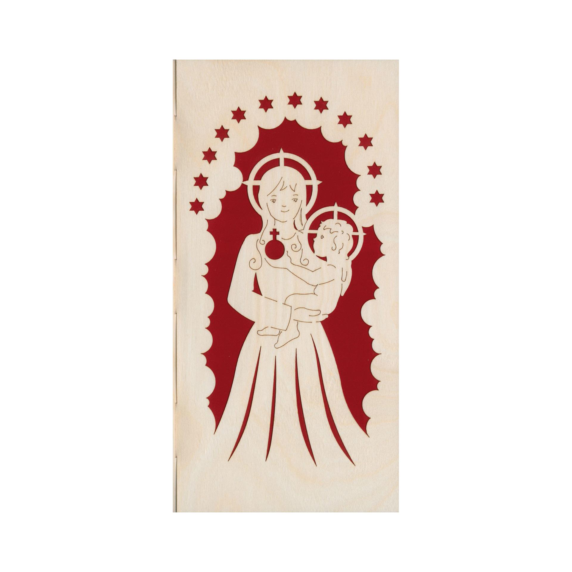 Furnierkarte Jesus und Maria