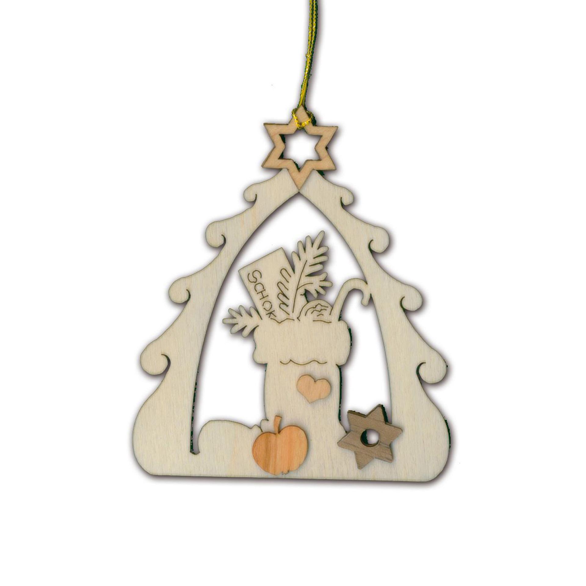 Baumschmuck Baum mit Nikolausstiefel