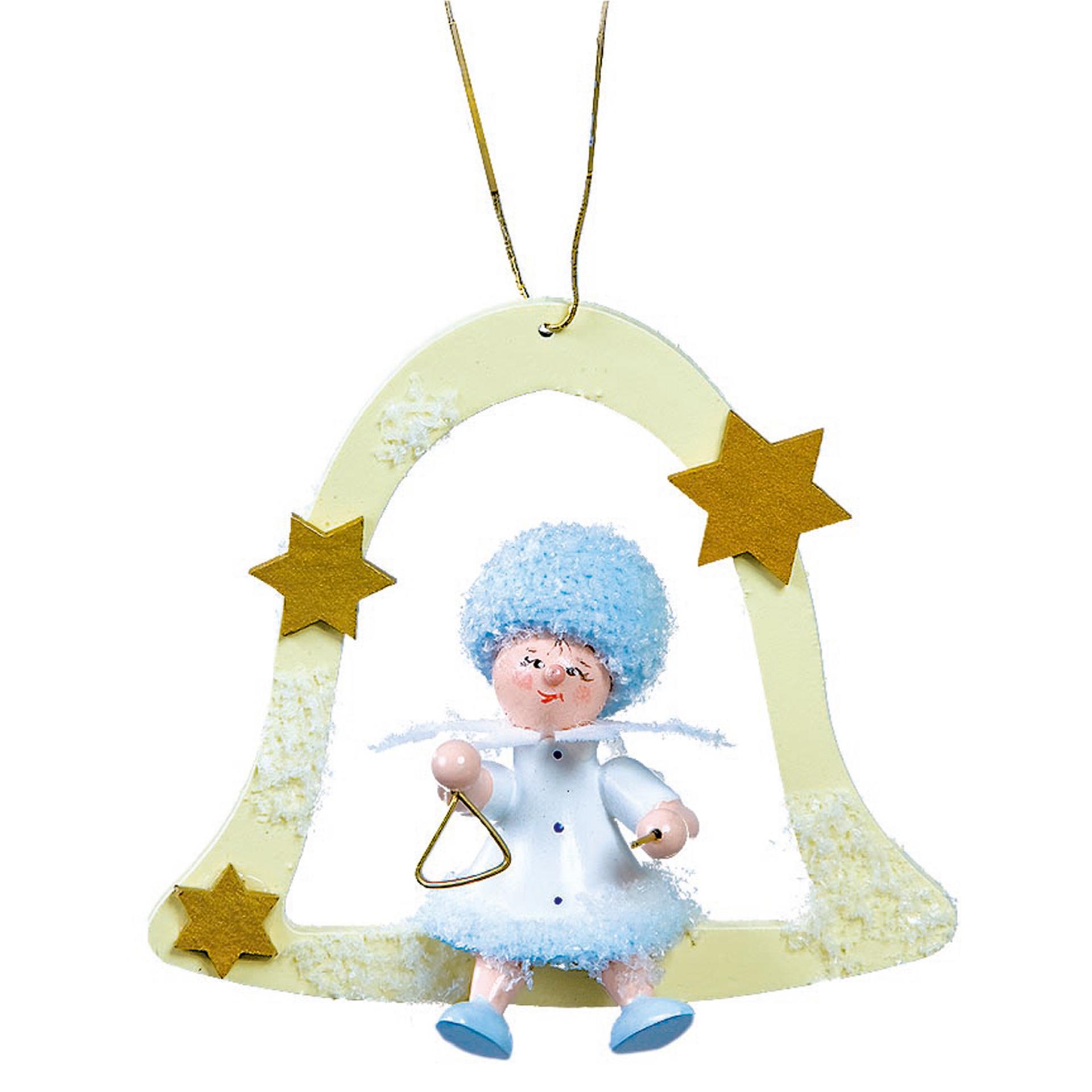 Baumschmuck Schneeflöckchen mit Triangel