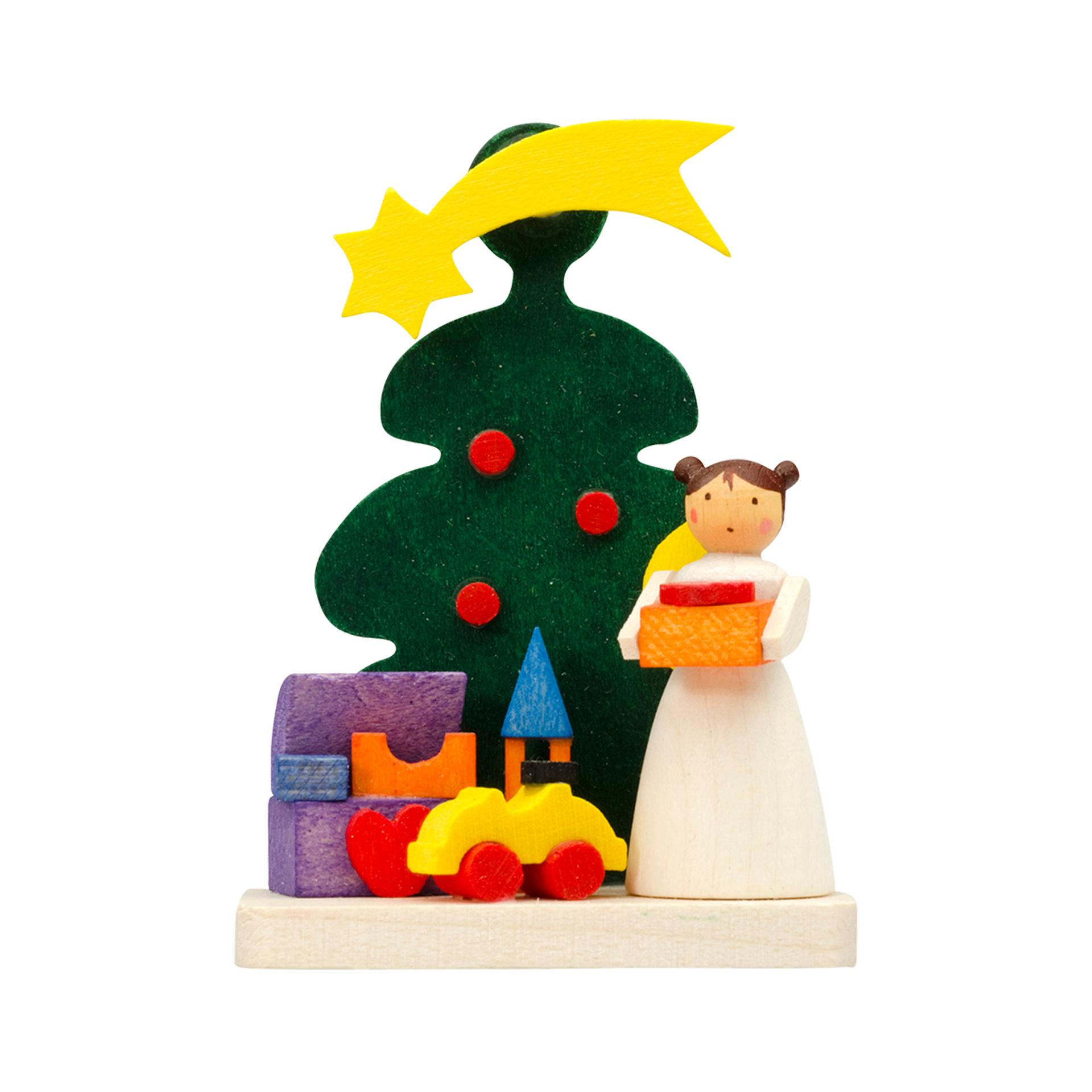 Baumschmuck Baum mit Engel und Spielzeug