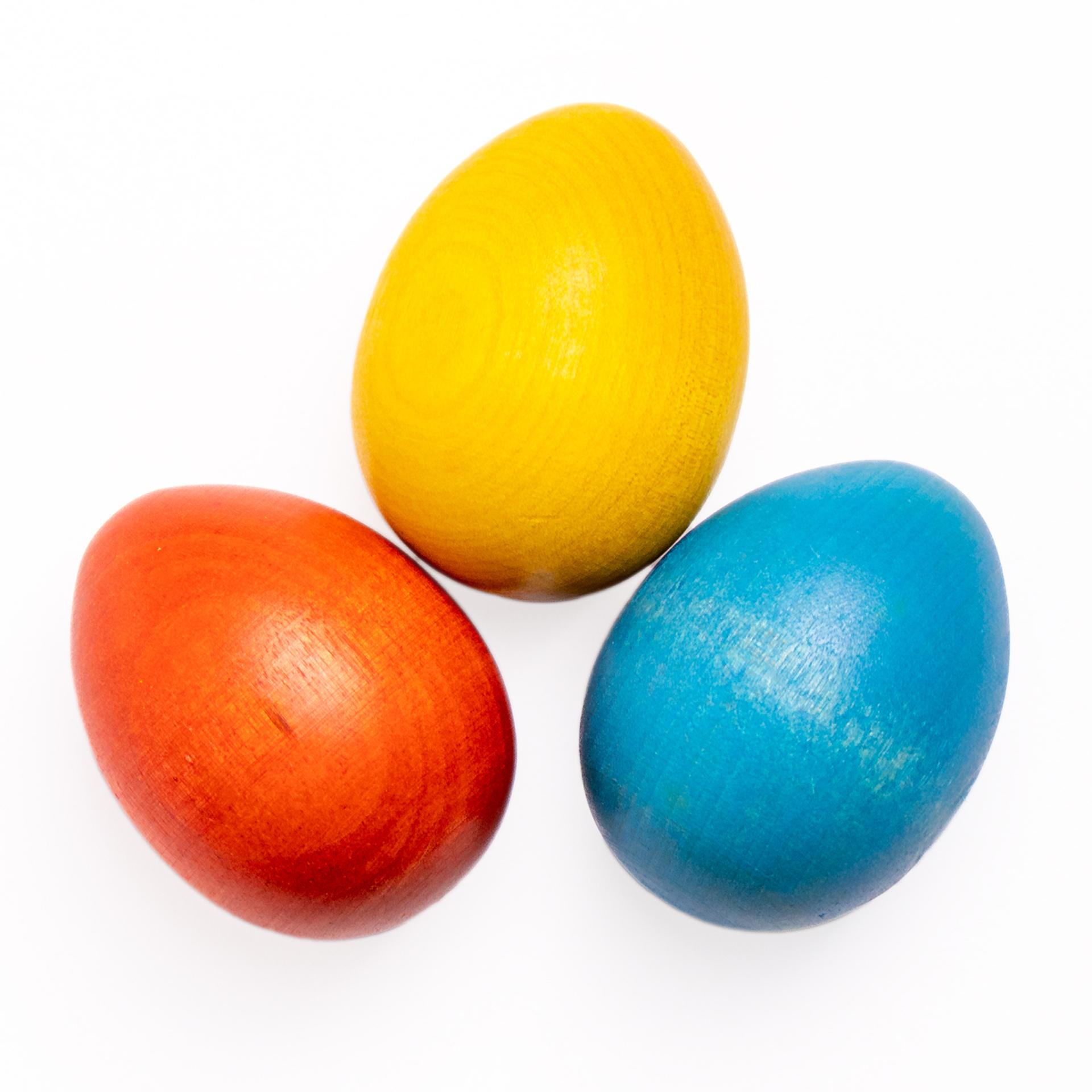 Osterei, 3er Set (blau, orange, gelb)