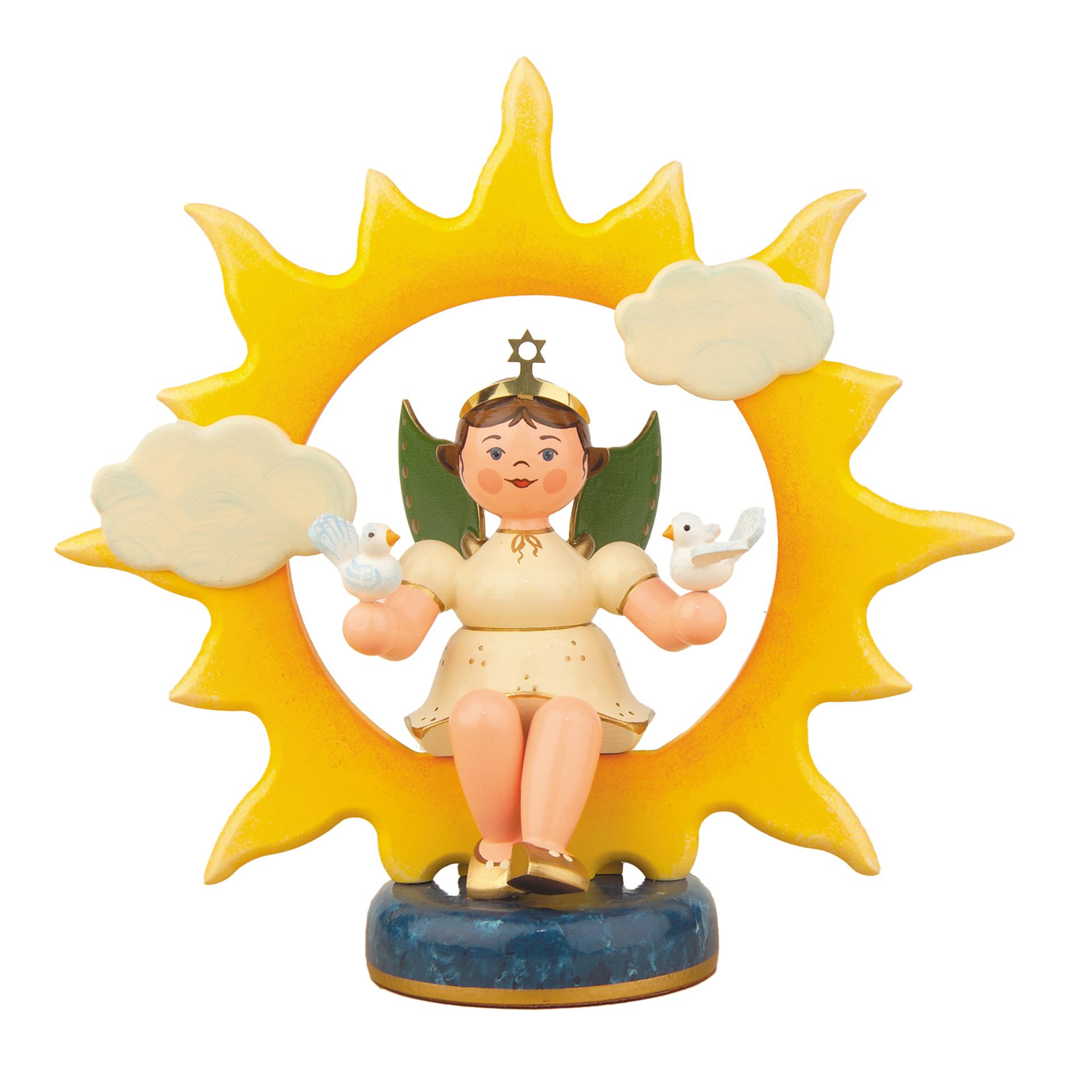 Engel-Sonne mit Tauben, groß