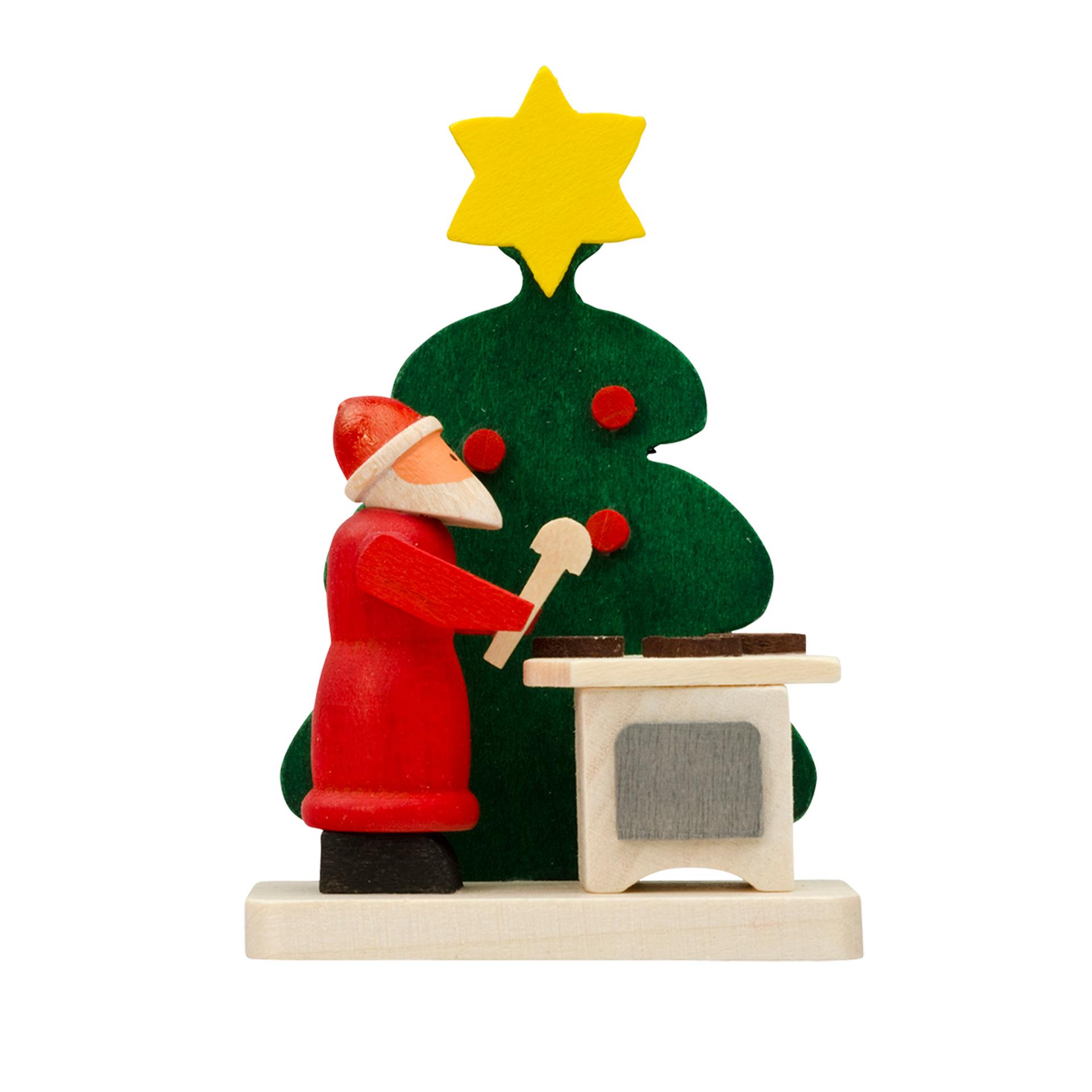 Baumschmuck Baum mit Weihnachtsmann und Pfefferkuchen