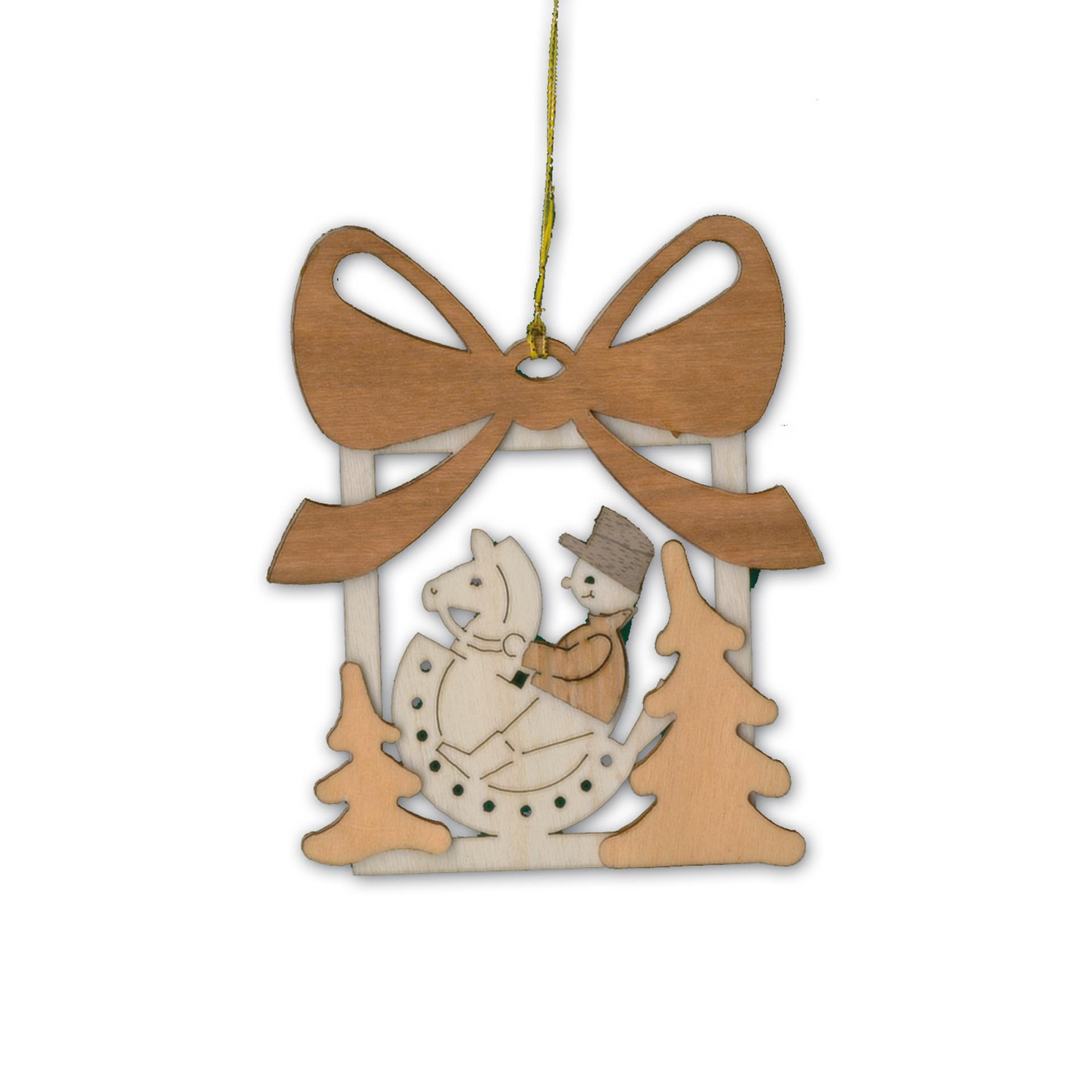 Baumschmuck Geschenk mit Schaukelpferd