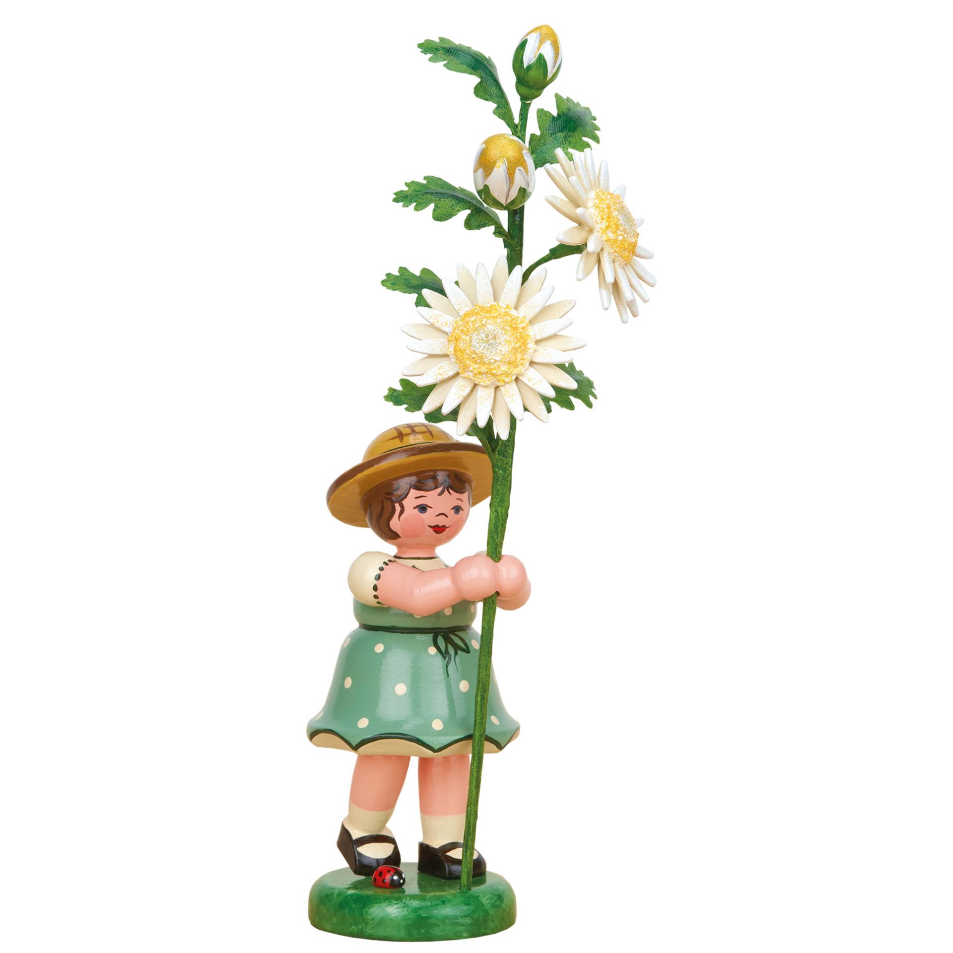 Blumenkind Mädchen mit Edelweißmargarite