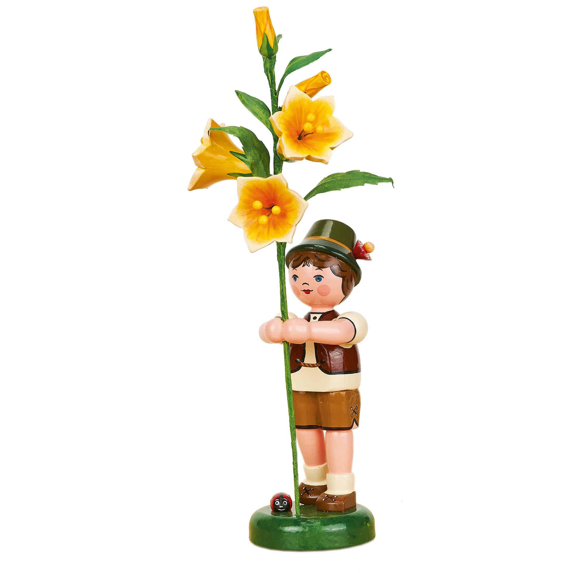 Blumenkind Junge mit Lilie, groß