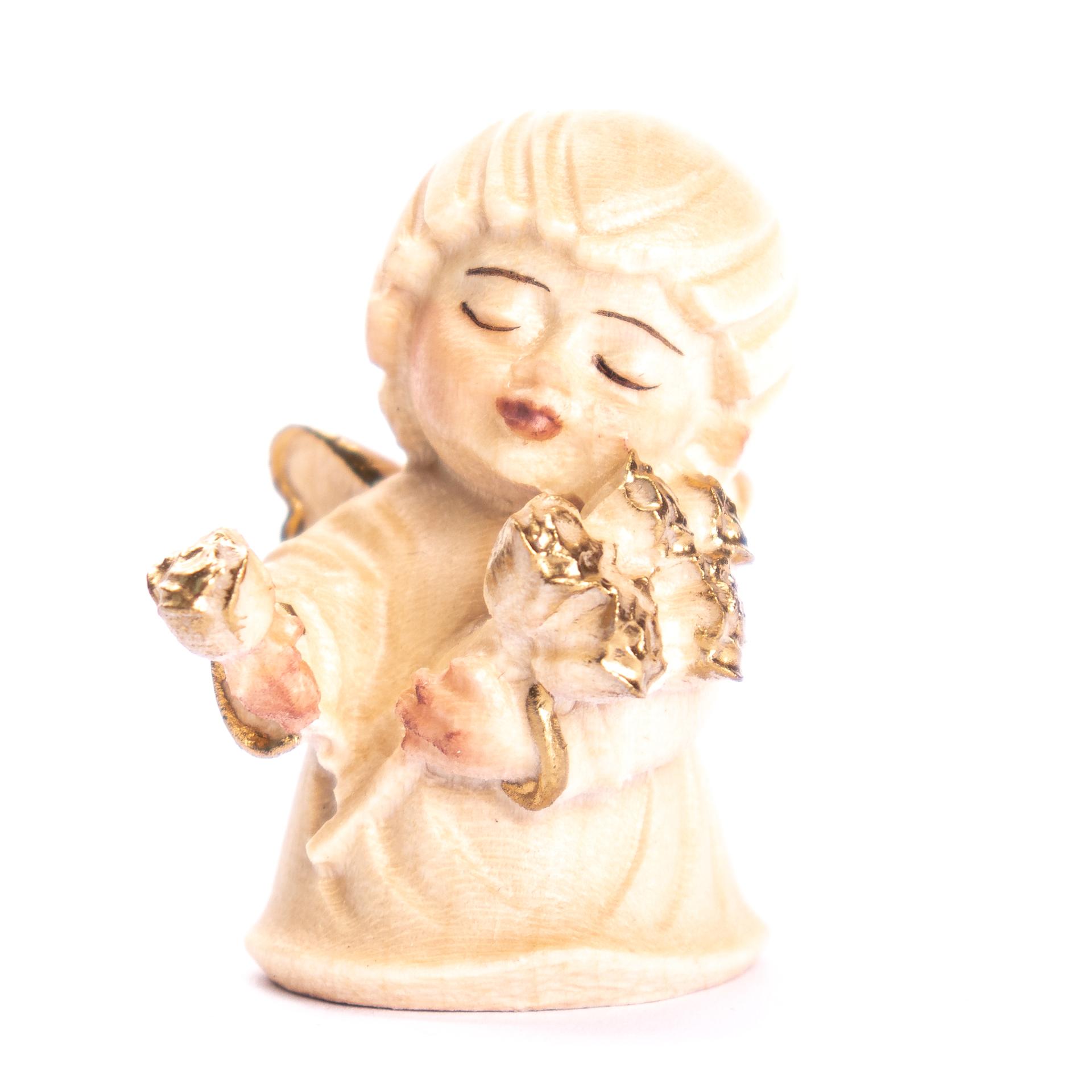 Engel mit Blumen, alabaster
