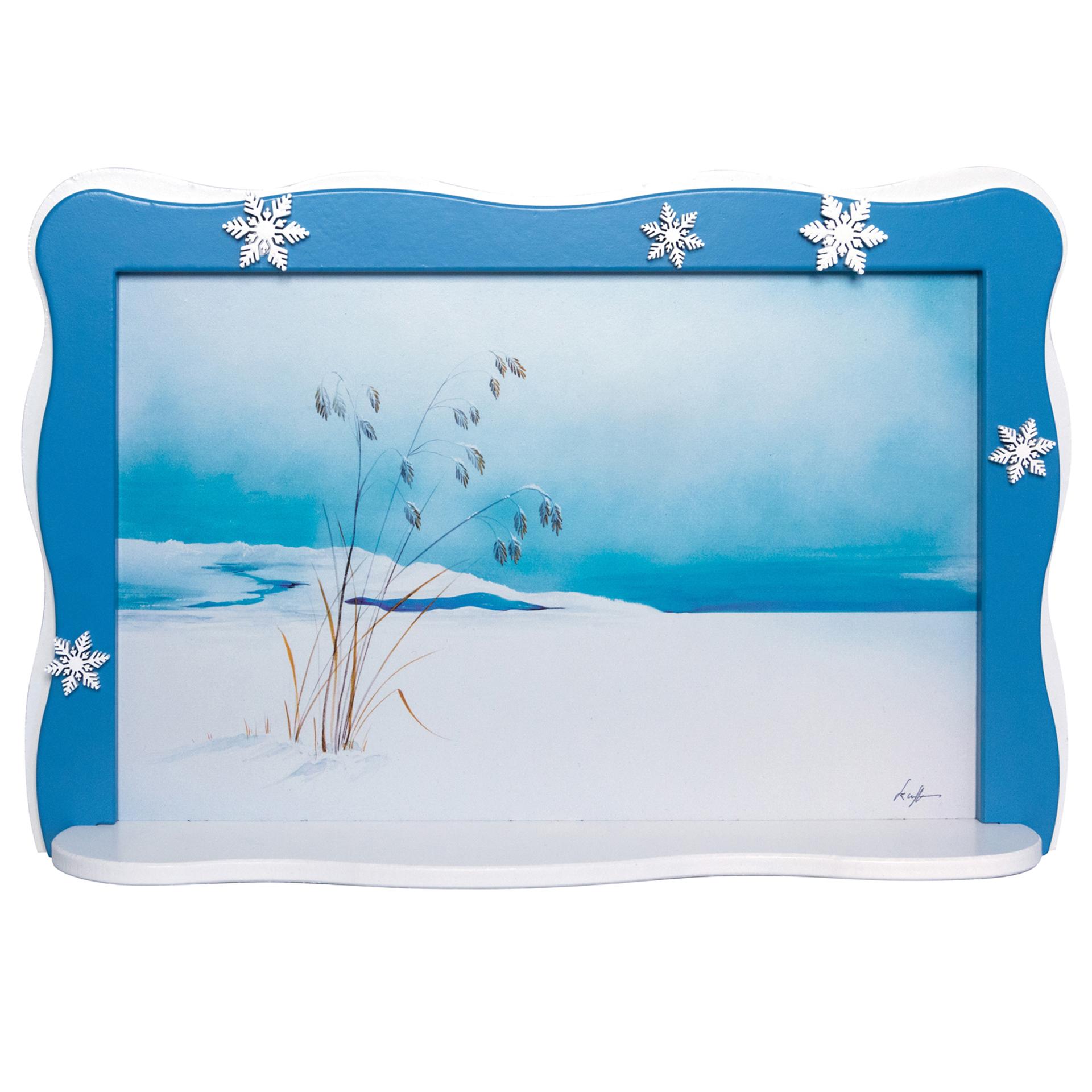 Schneeflöckchenbild Grashalme