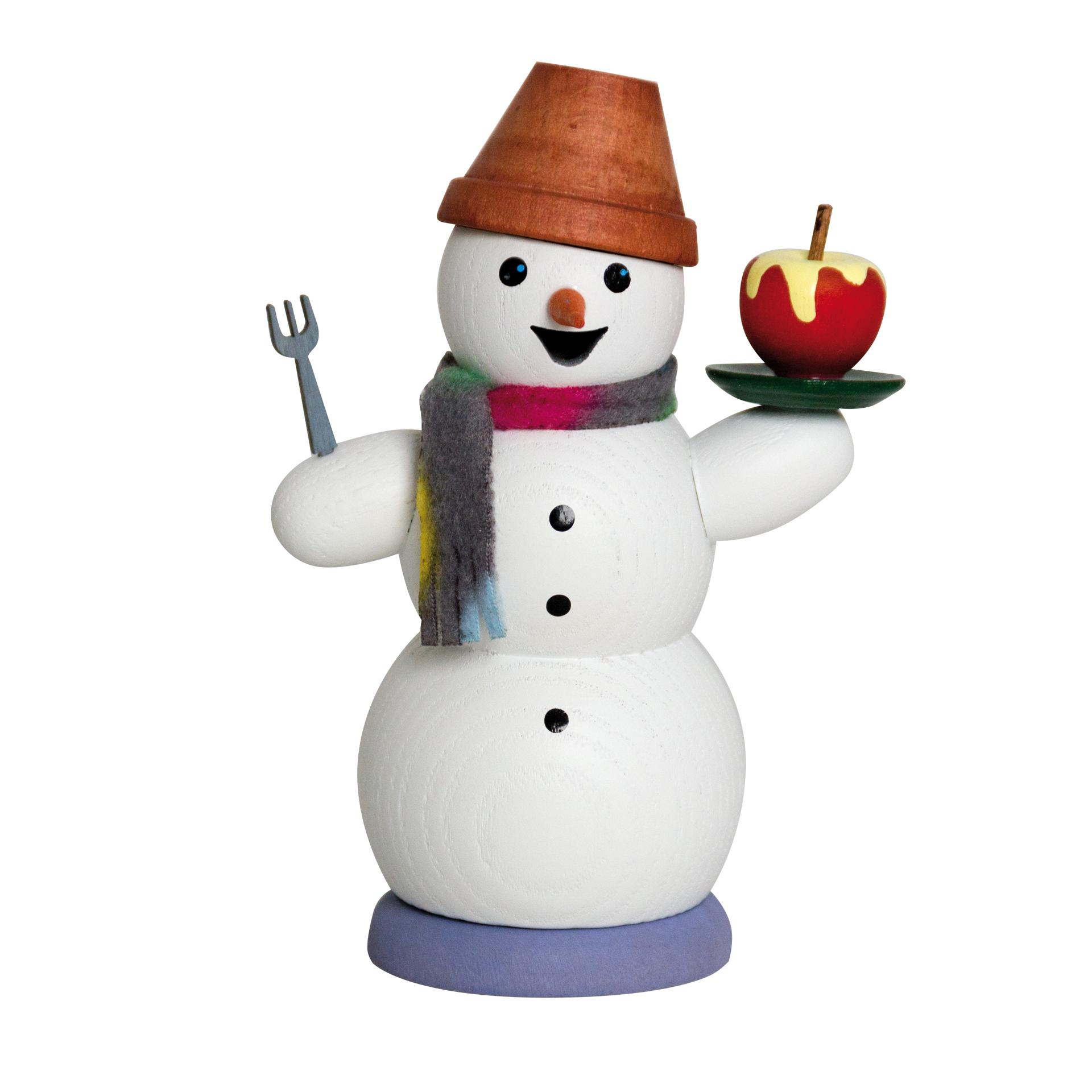 Schneemann mit Bratapfel