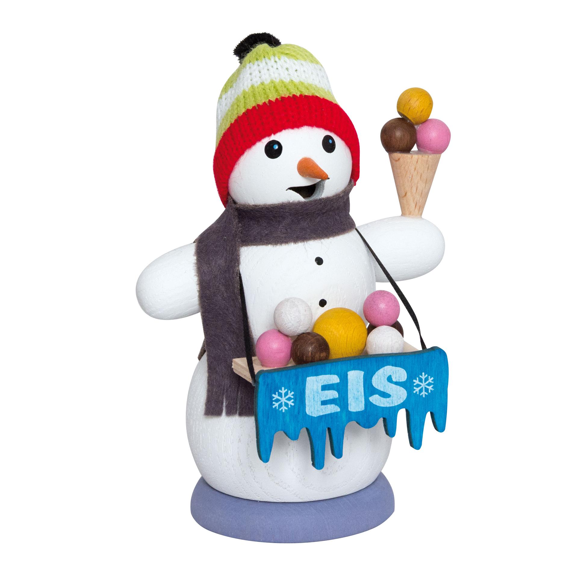 Schneemann als Eisverkäufer