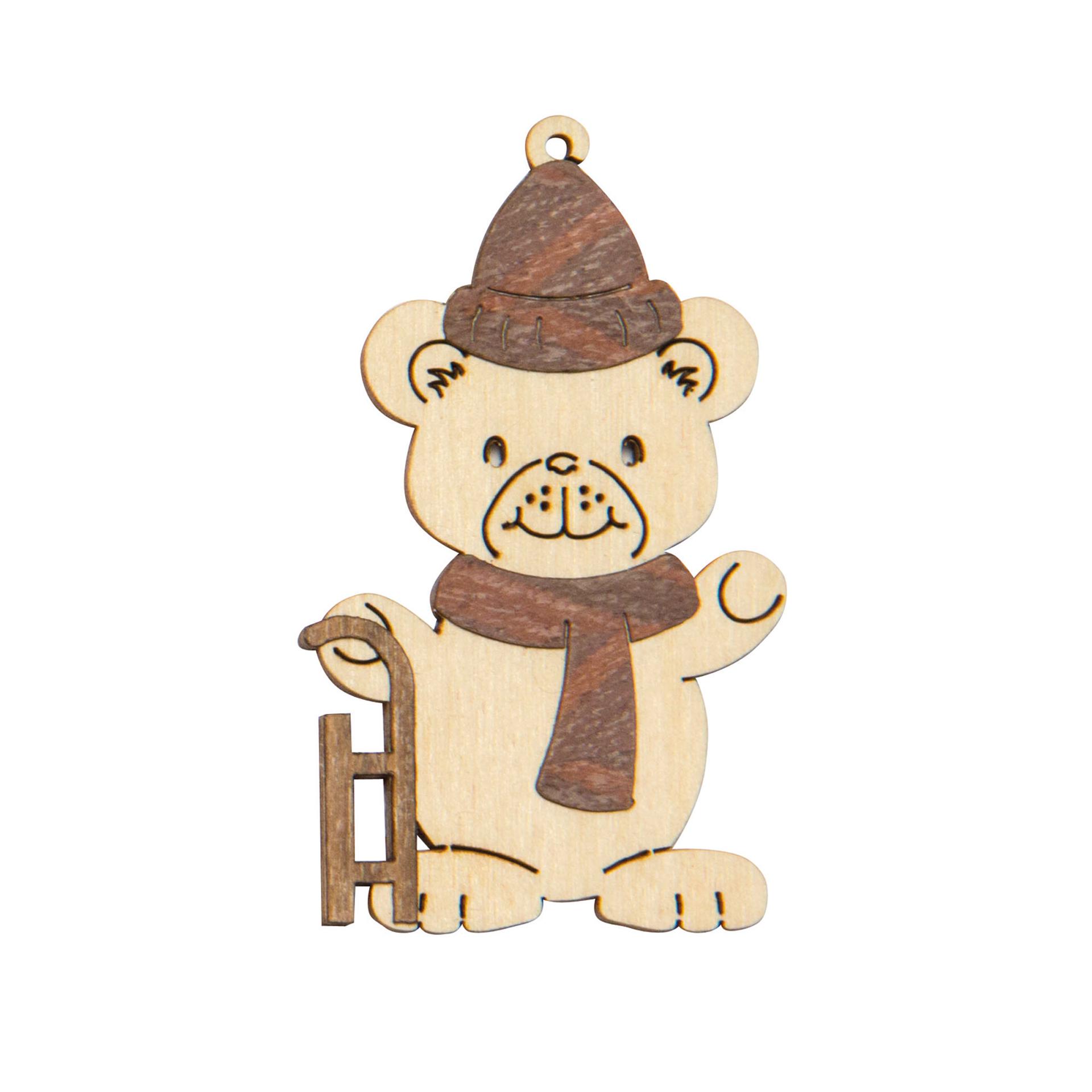 Baumschmuck Bär mit Schlitten