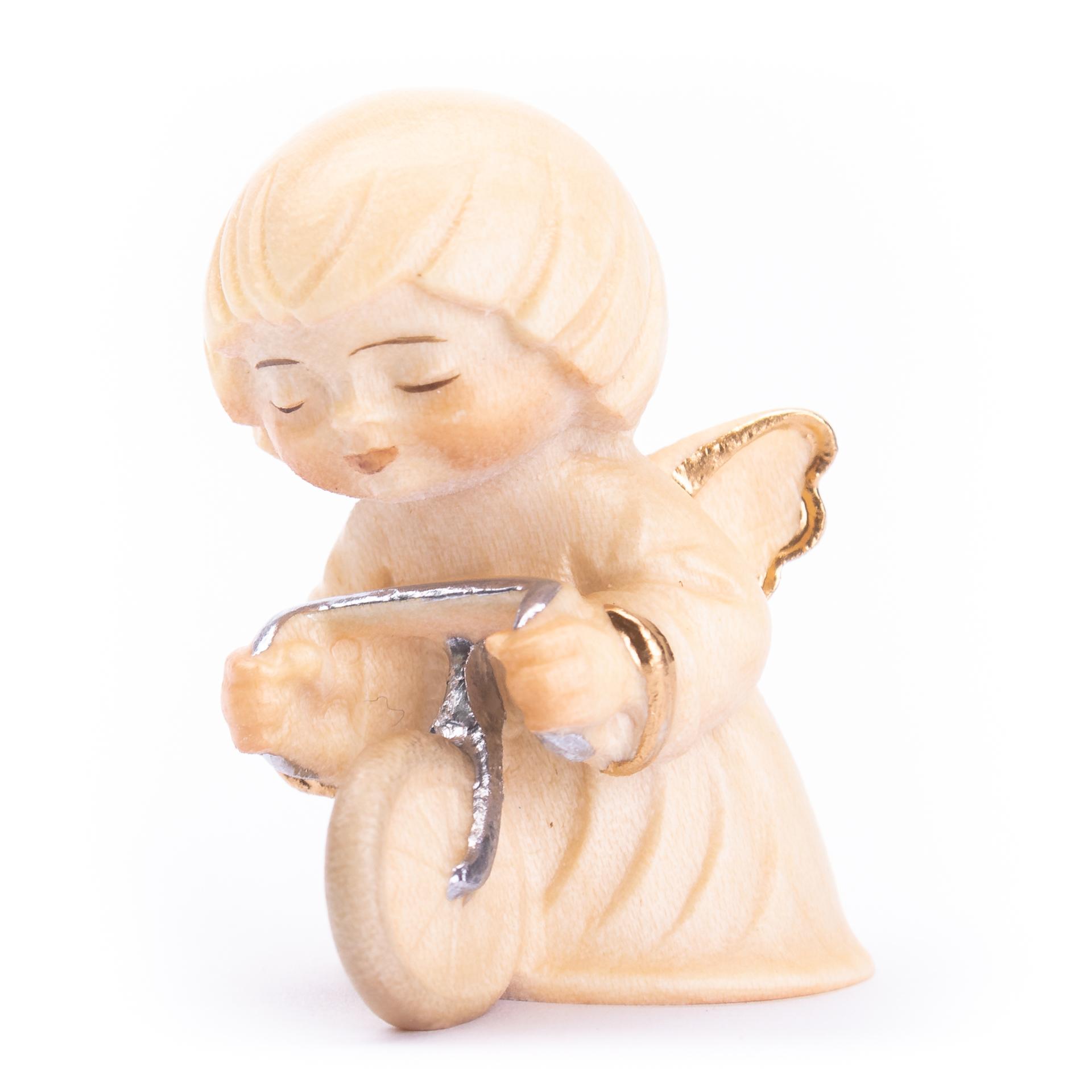 Engel mit Fahrrad, alabaster