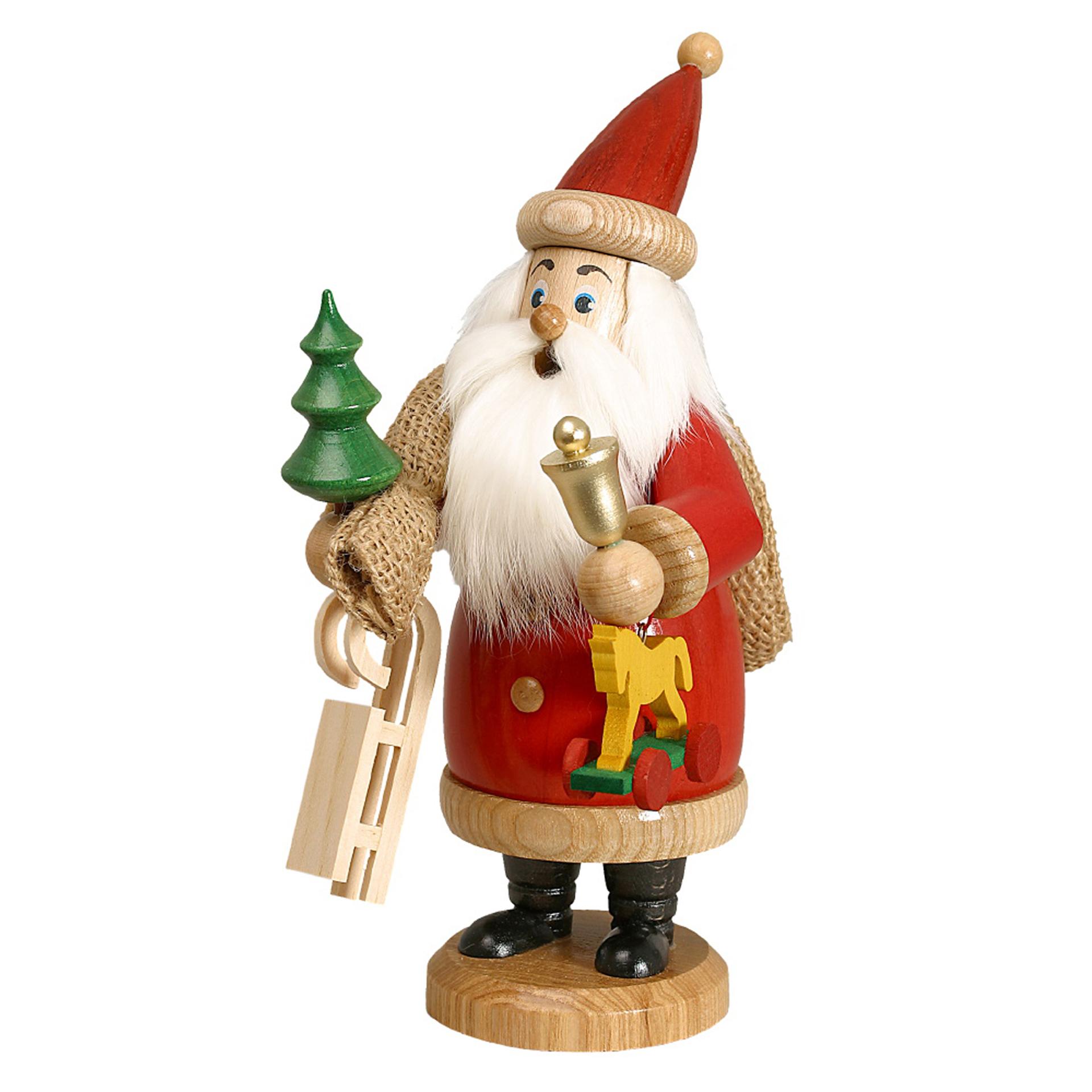 Rauchfigur Weihnachtsmann mit Geschenken
