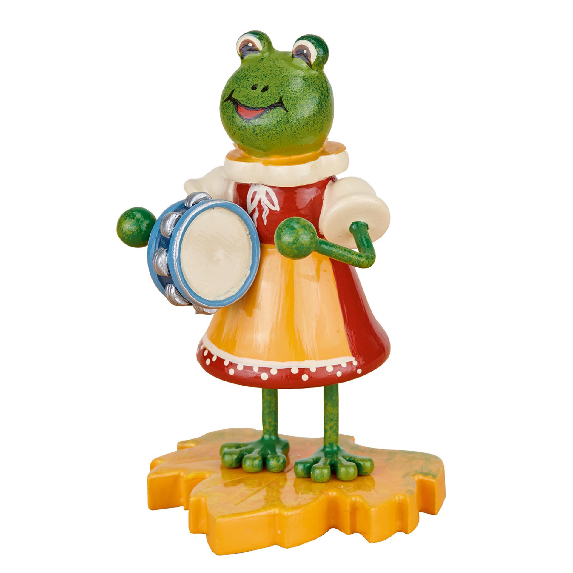 Frosch Mädchen mit Tamburin