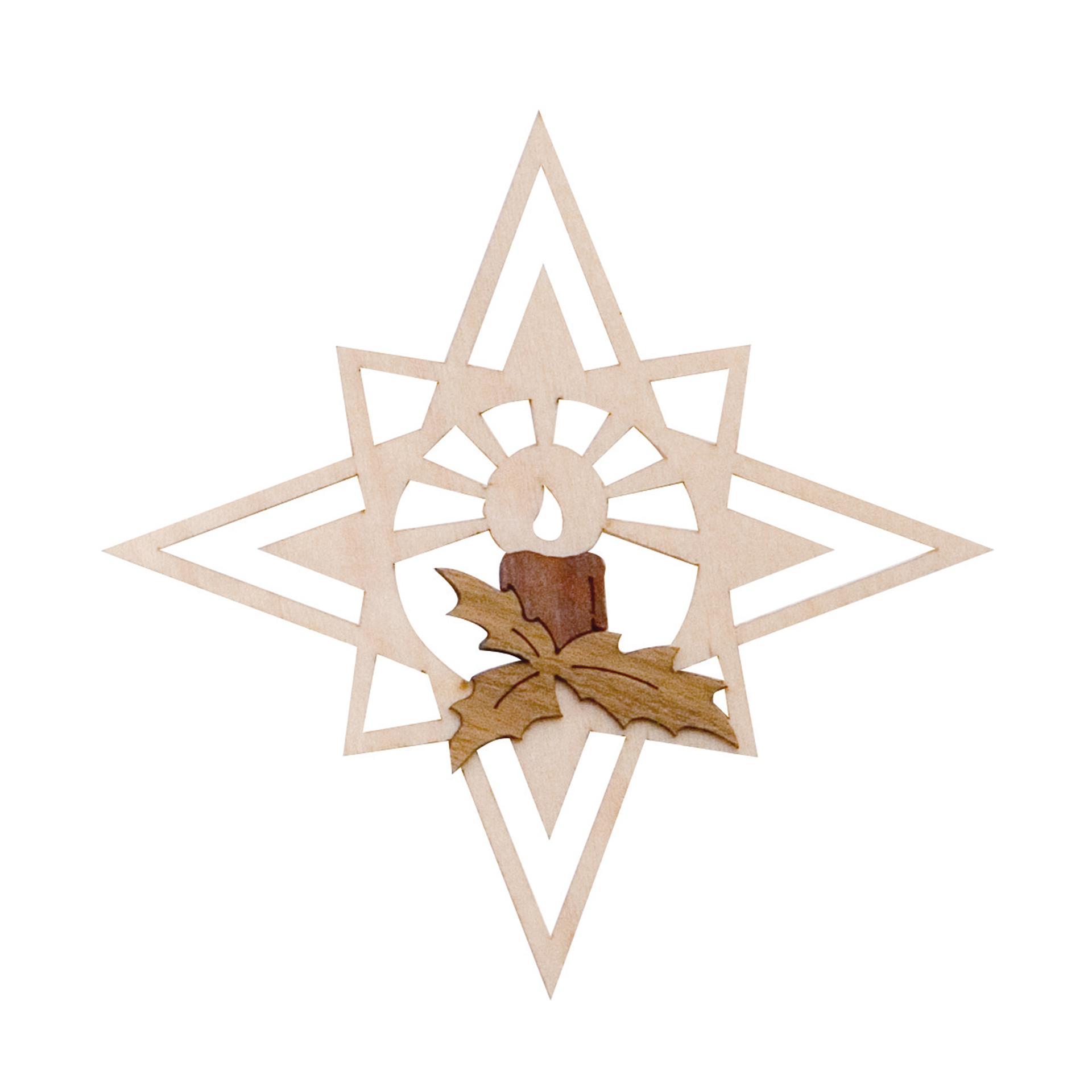 Baumschmuck Stern mit Kerzenschein