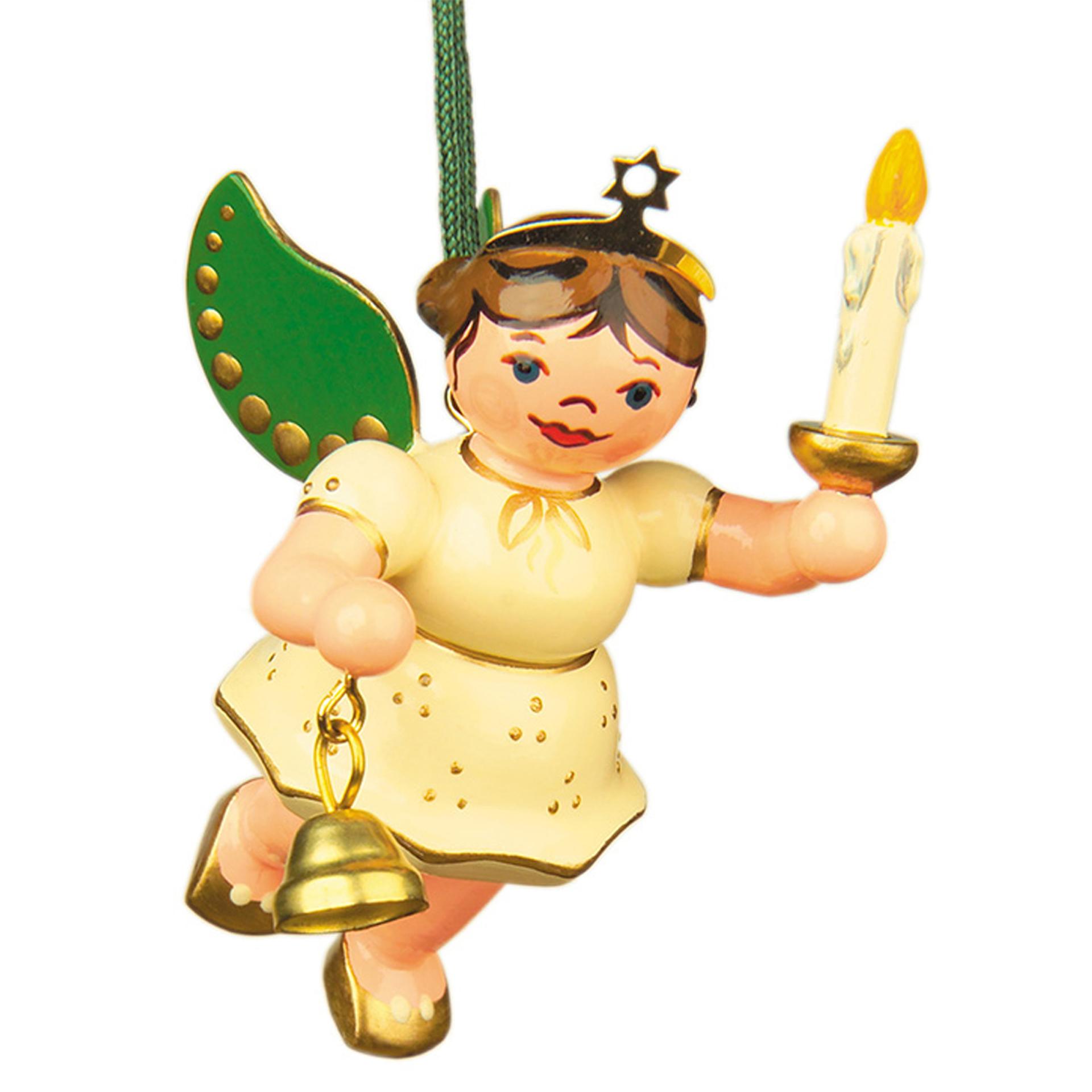 Baumschmuck Engel mit Licht und Glocke