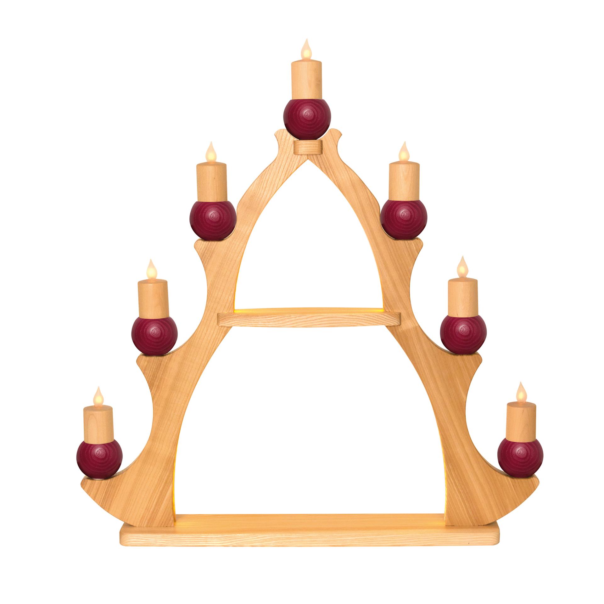 Fensterbaum 7 Kerzen, elektr. rot