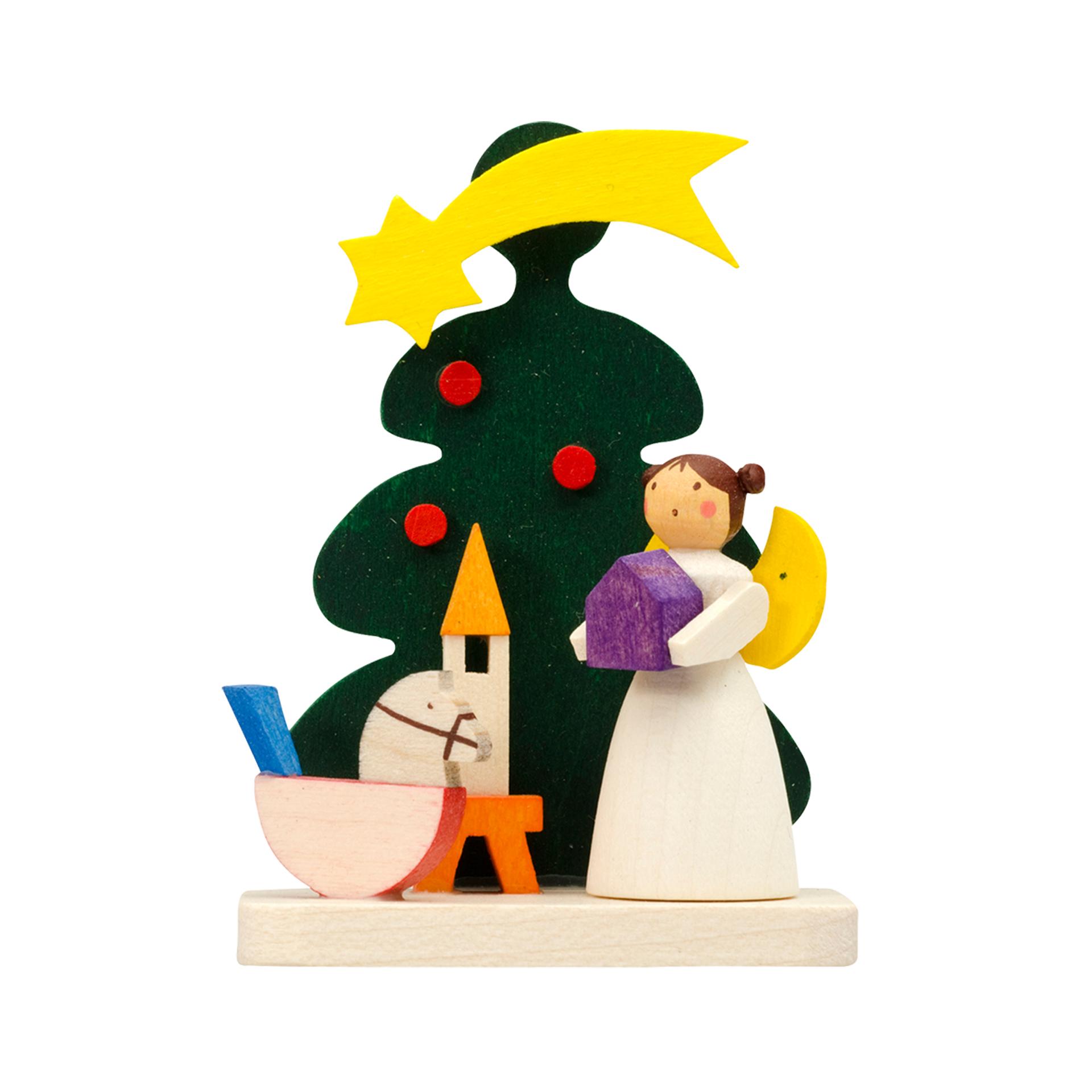Baumschmuck Baum mit Engel und Pferd