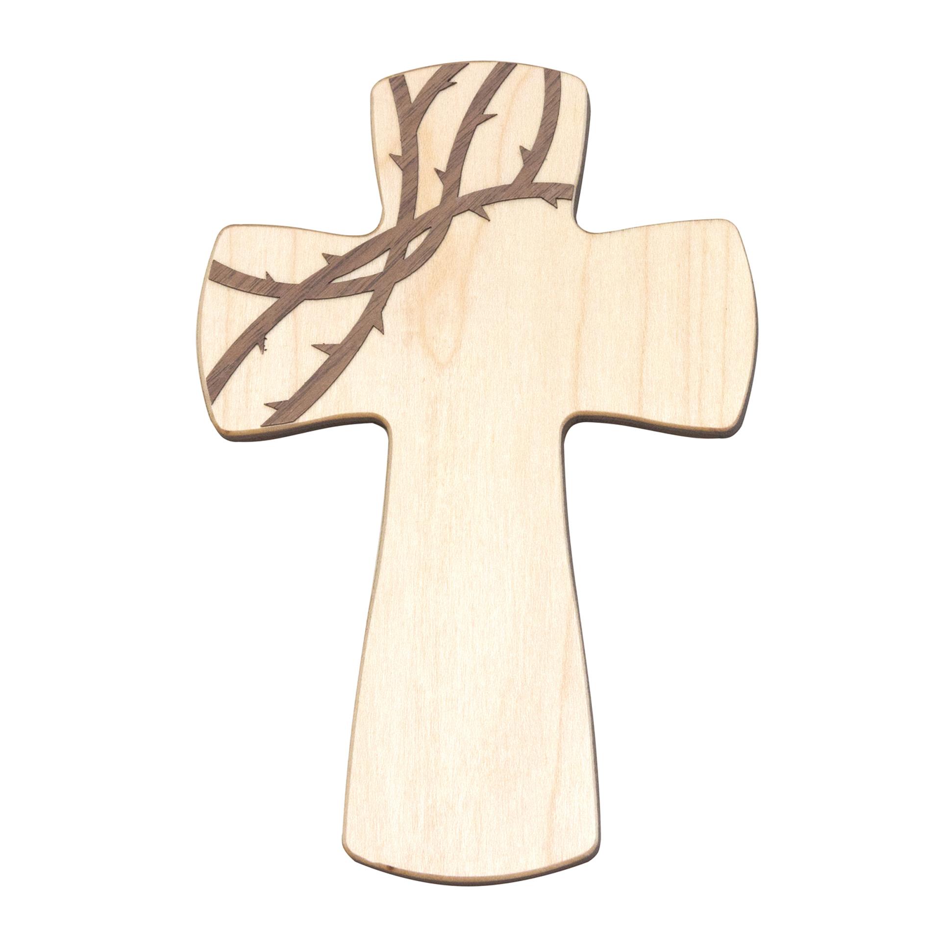 Kreuz mit Dornen, Ahorn/Esche