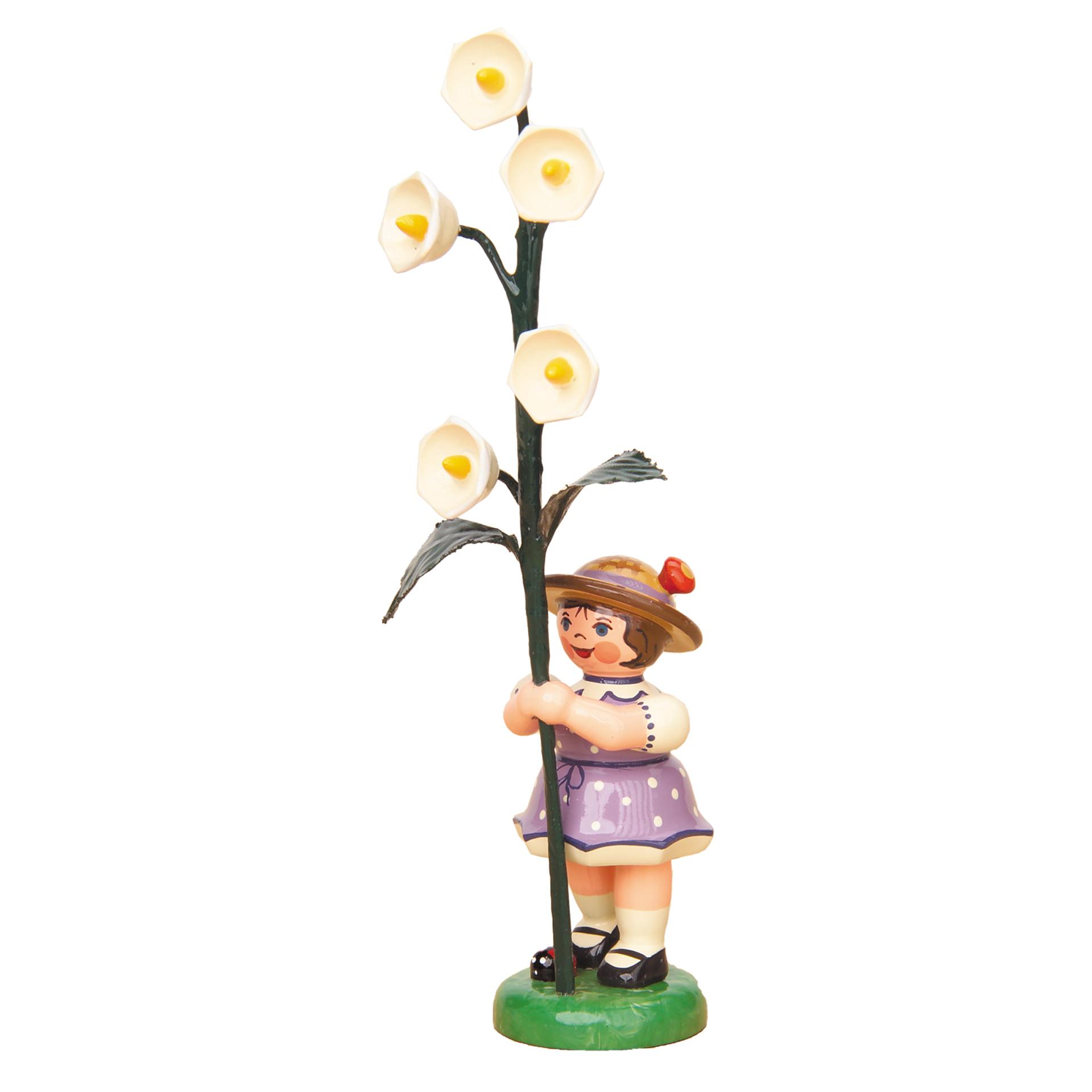 Blumenkind Mädchen mit Maiglöckchen