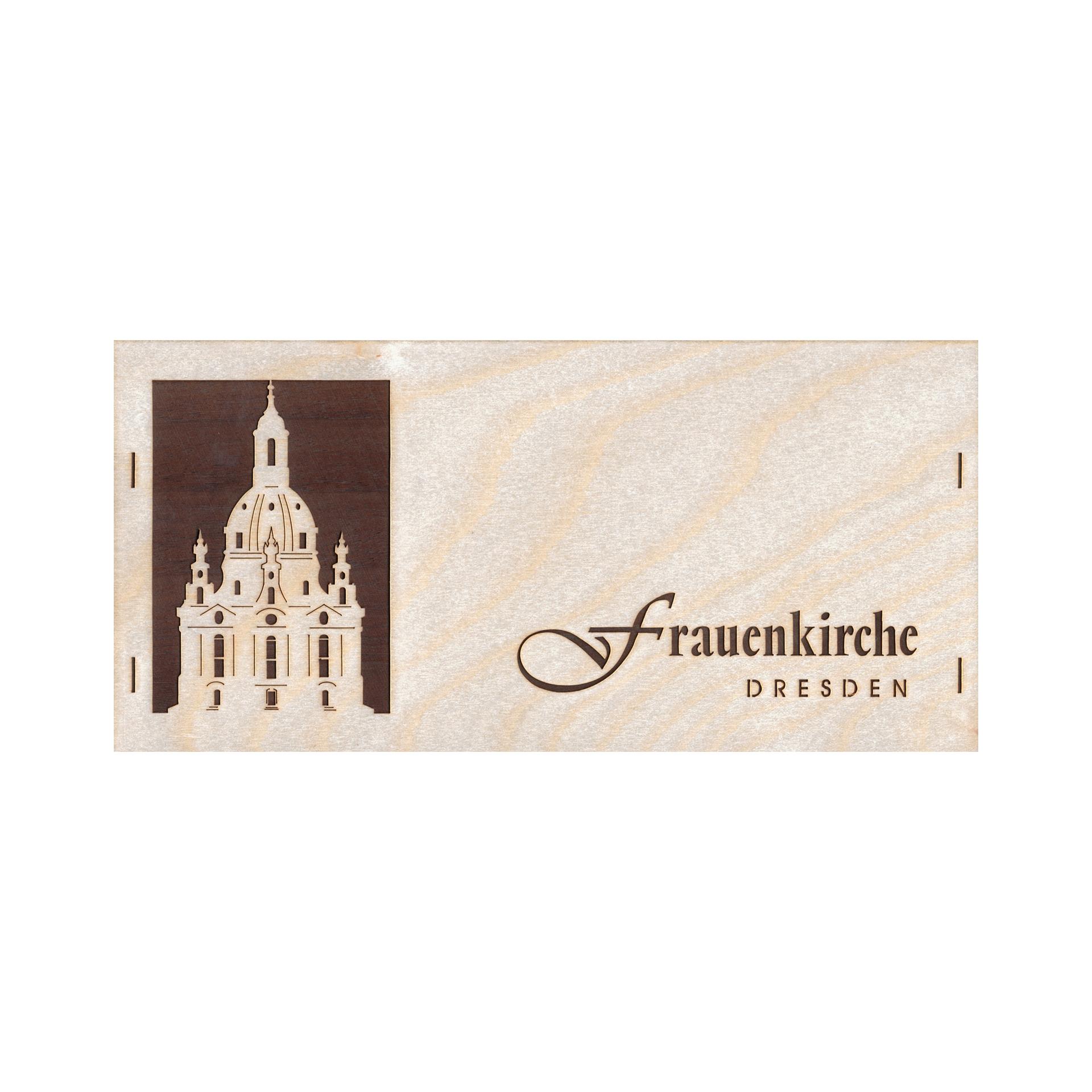 Furnierkarte Frauenkirche Dresden