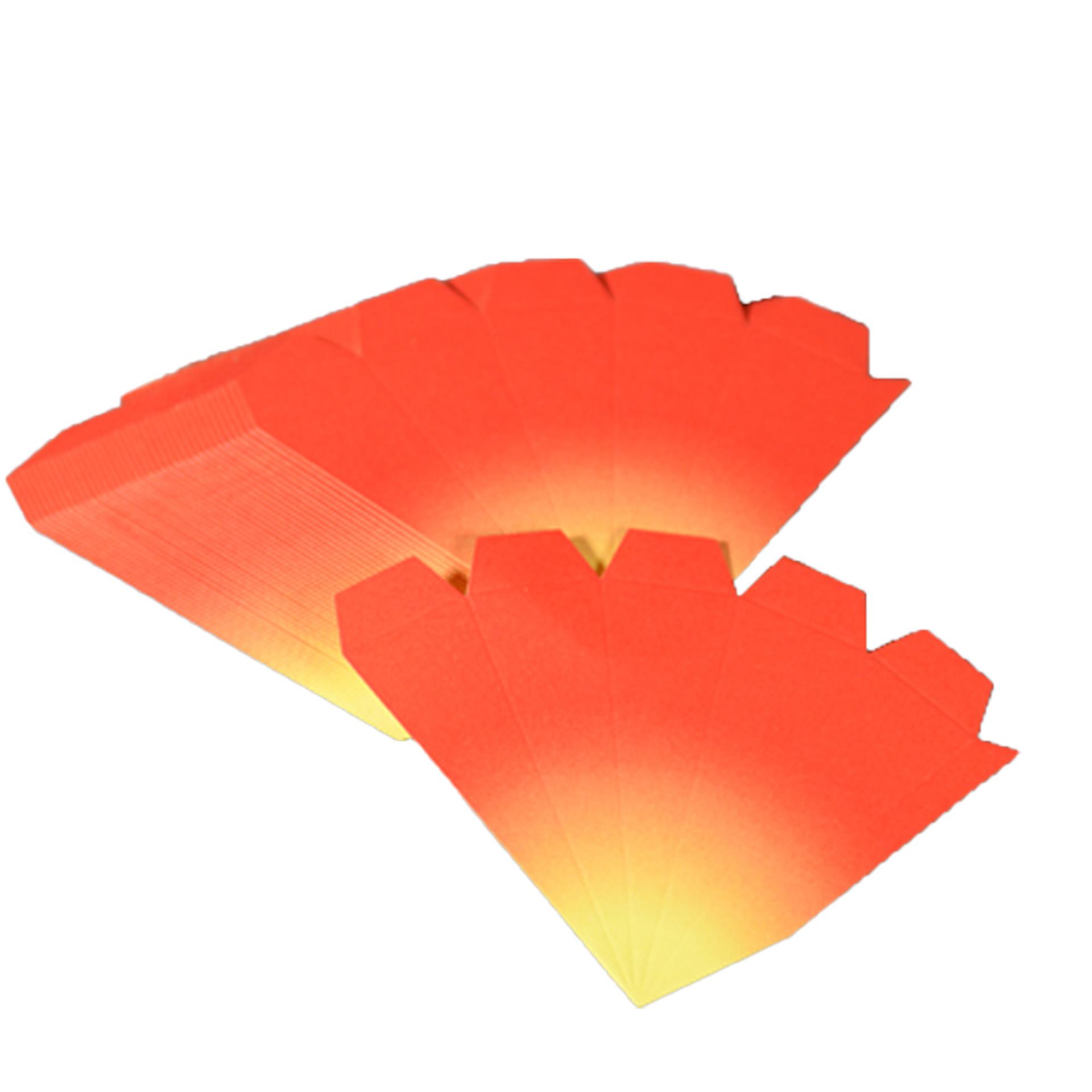 Bausatz für Adventssteren, 3er Set rot mit gelben Spitzen