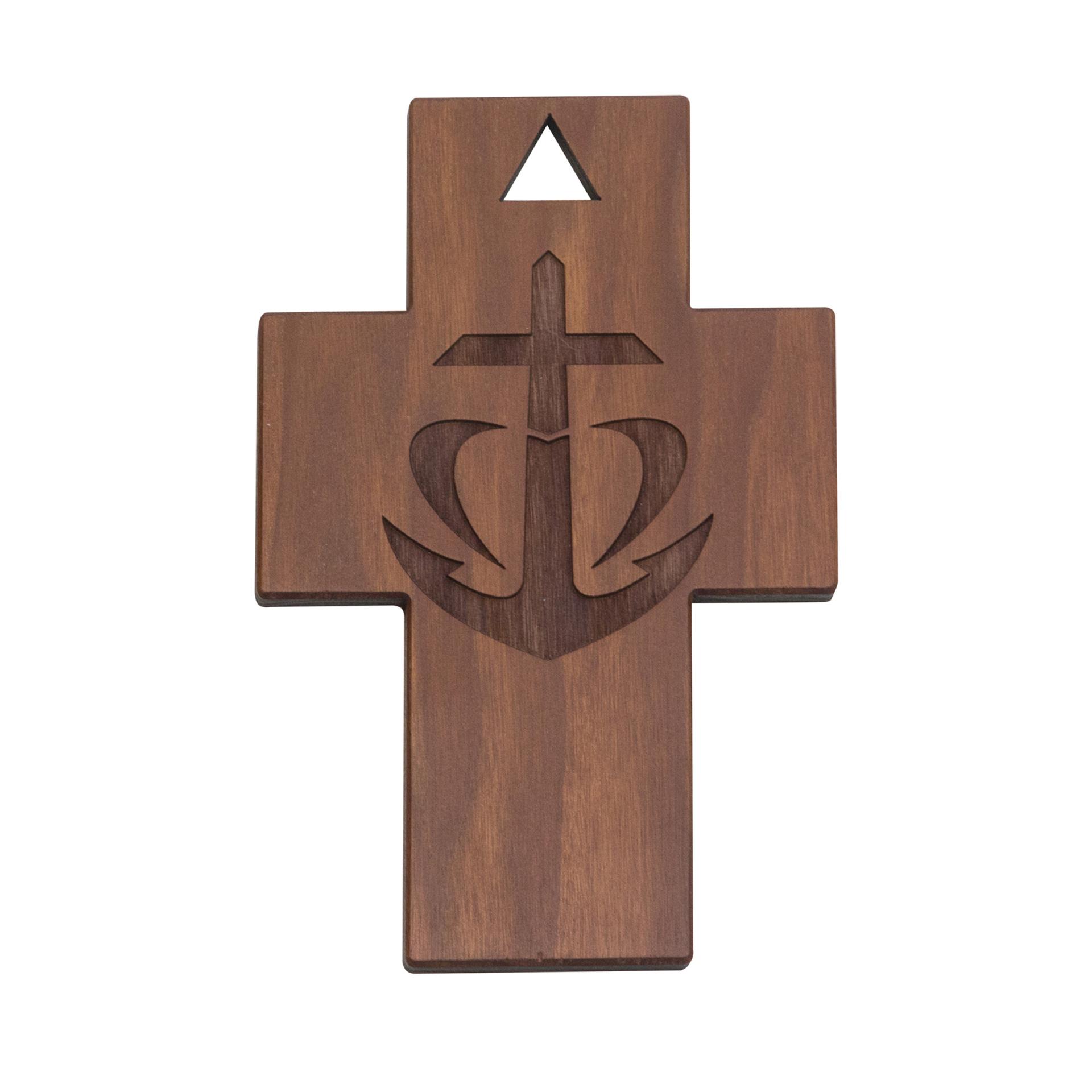 """Kreuz """"Anker-Kreuz"""", Thermobirke"""