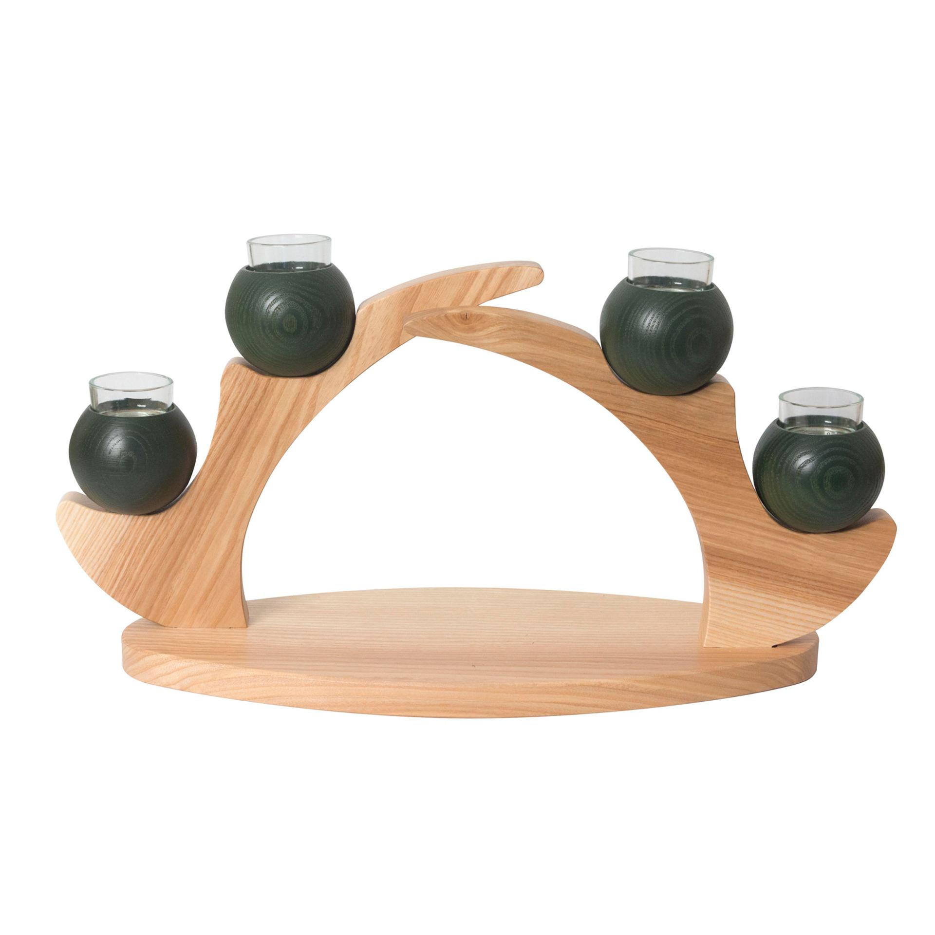 Tischleuchter 4 Kerzen, grün