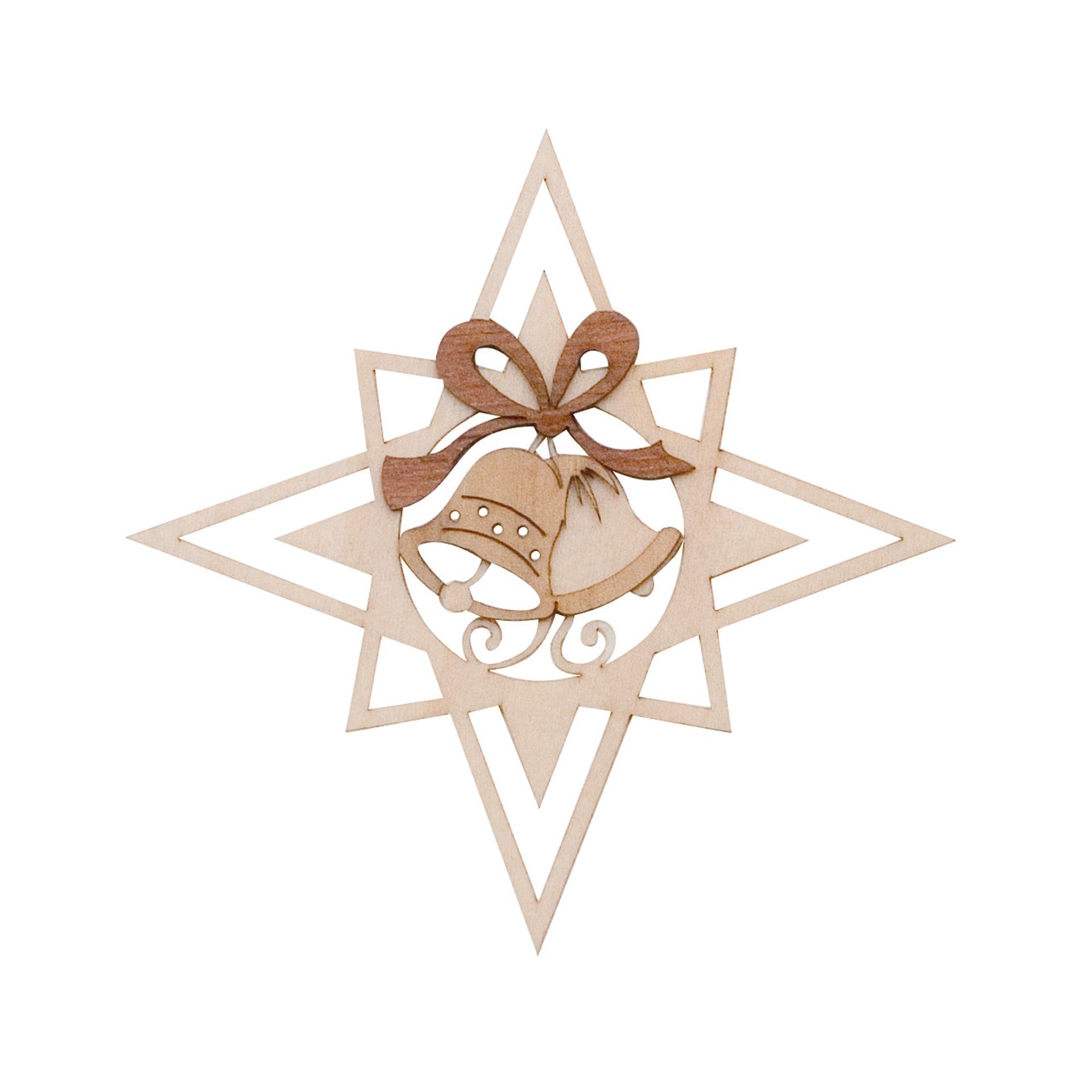 Baumschmuck Stern mit Glöckchen