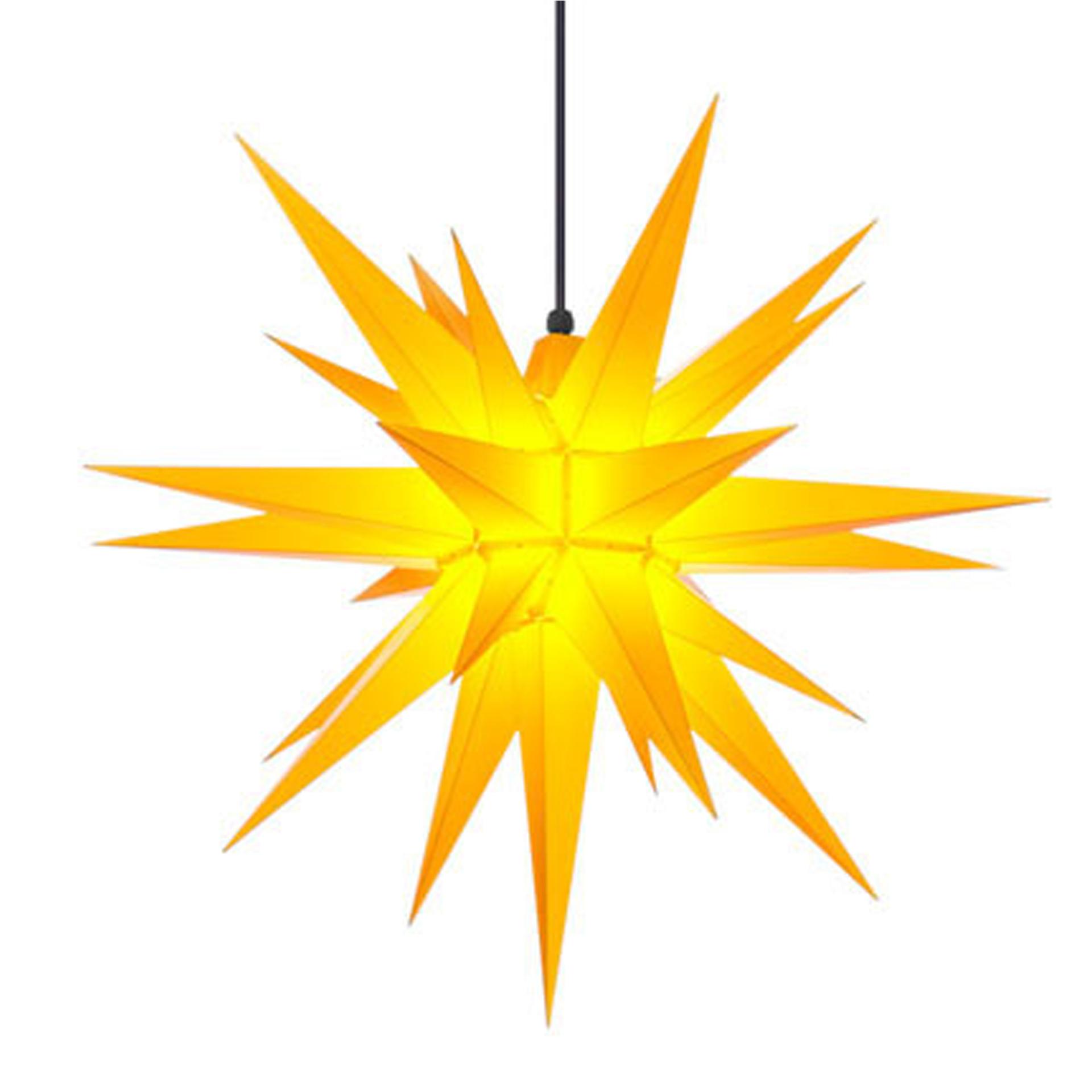 Herrnhuter Außenstern A7, gelb