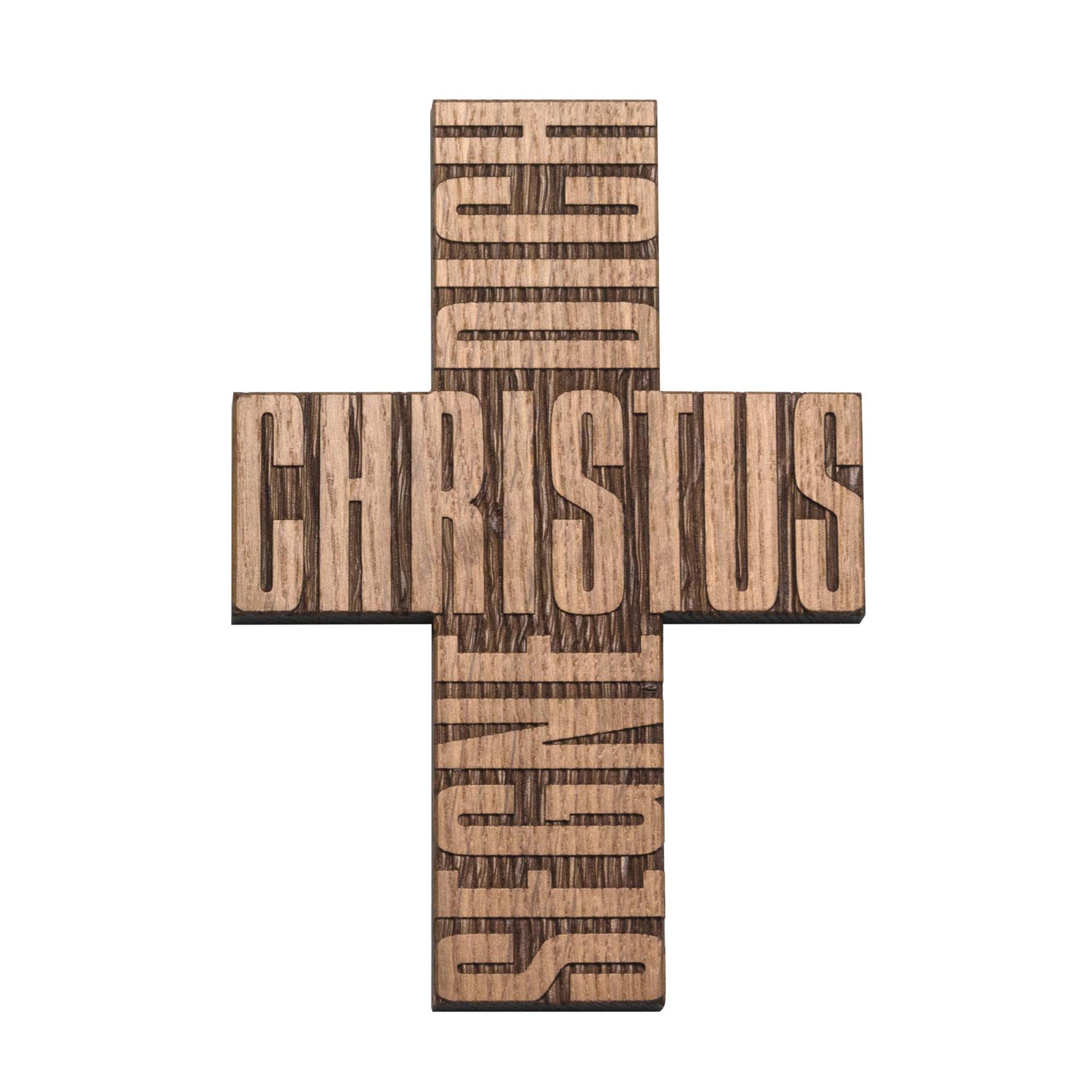 """Kreuz """"Christus segne dich"""", Eiche"""