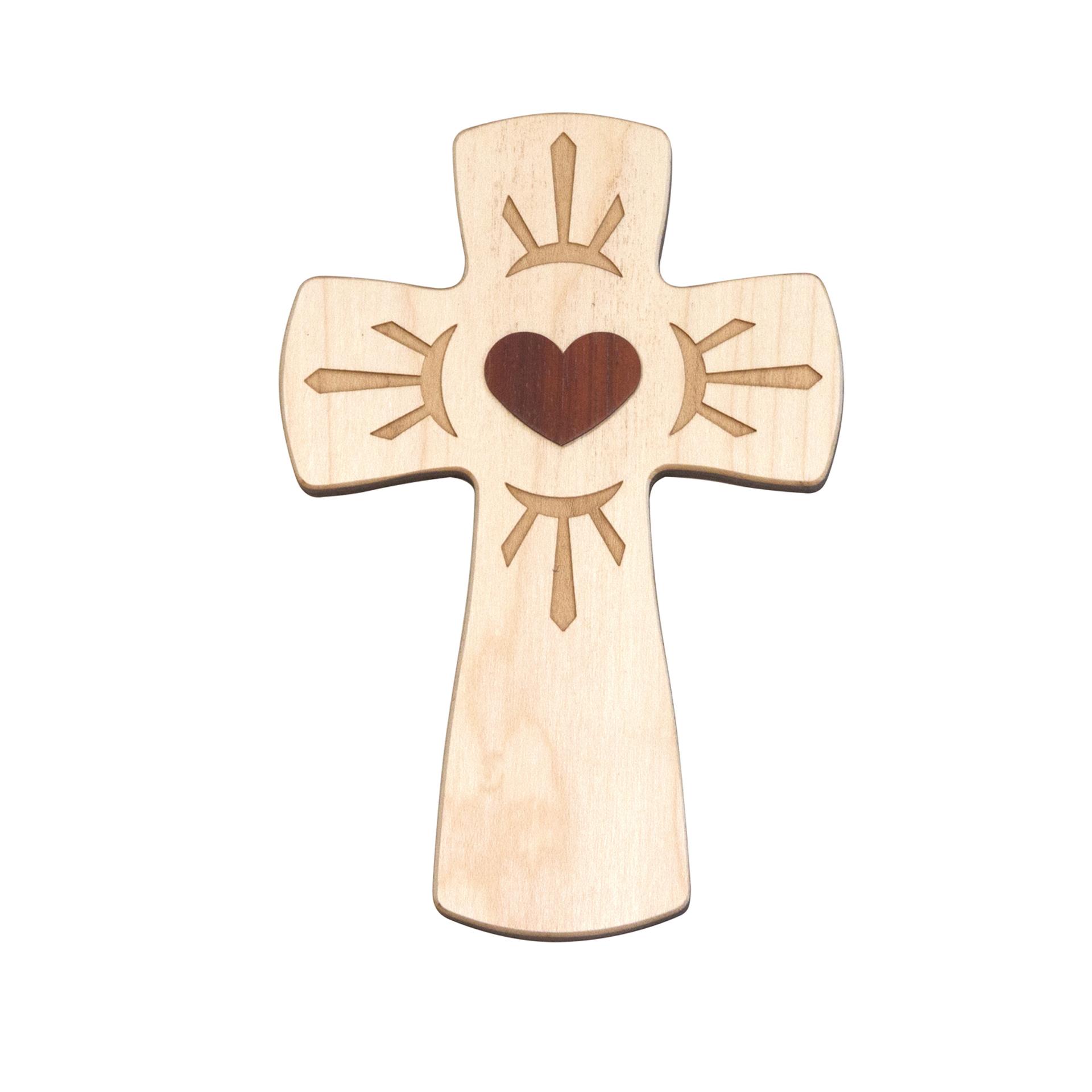 Kreuz mit Herz, Ahorn