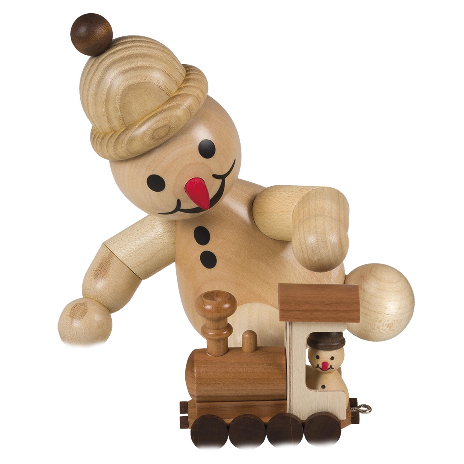 Schneemann Junior mit Lok, mittelgroß