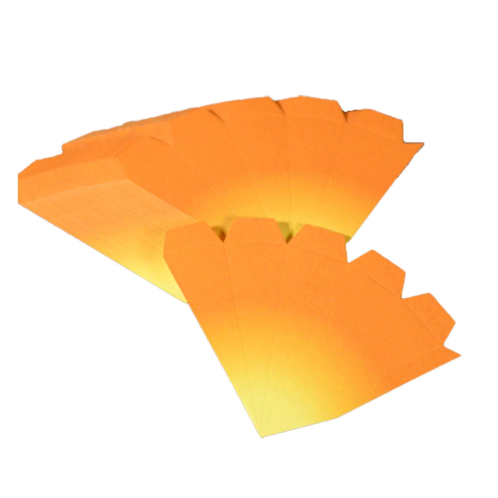 Bausatz für Adventssterne, 3er Set orange mit gelben Spitzen