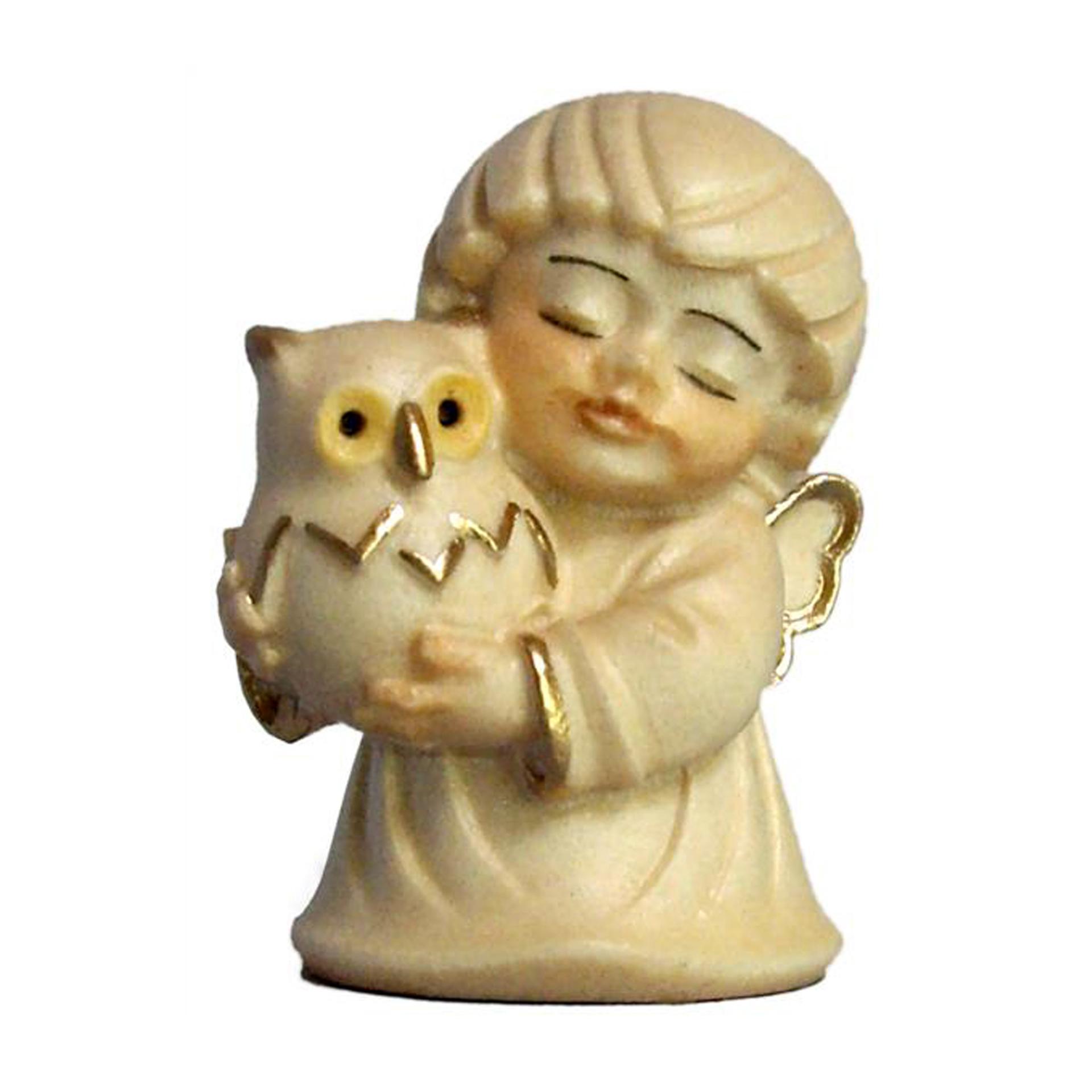 Engel mit Eule, alabaster