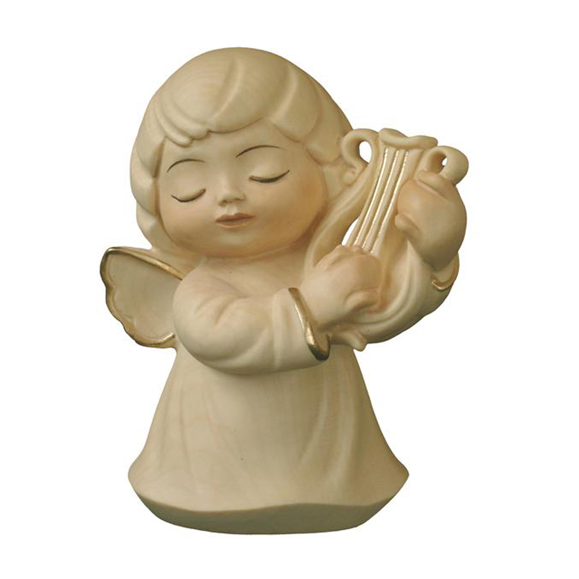 Engel mit Harfe, alabaster