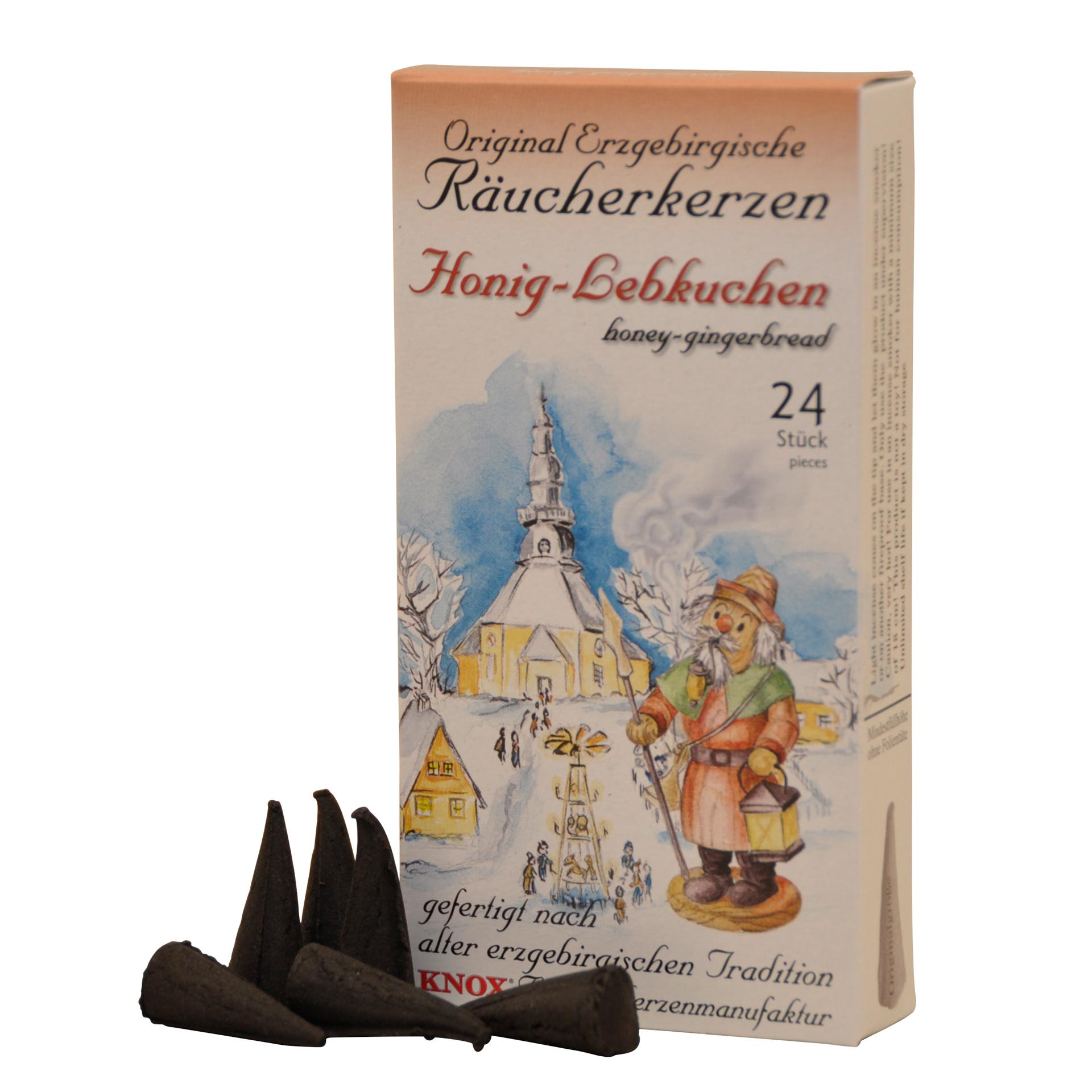 Knox Räucherkerzen Erzgebirgischer Honig-Lebkuchen