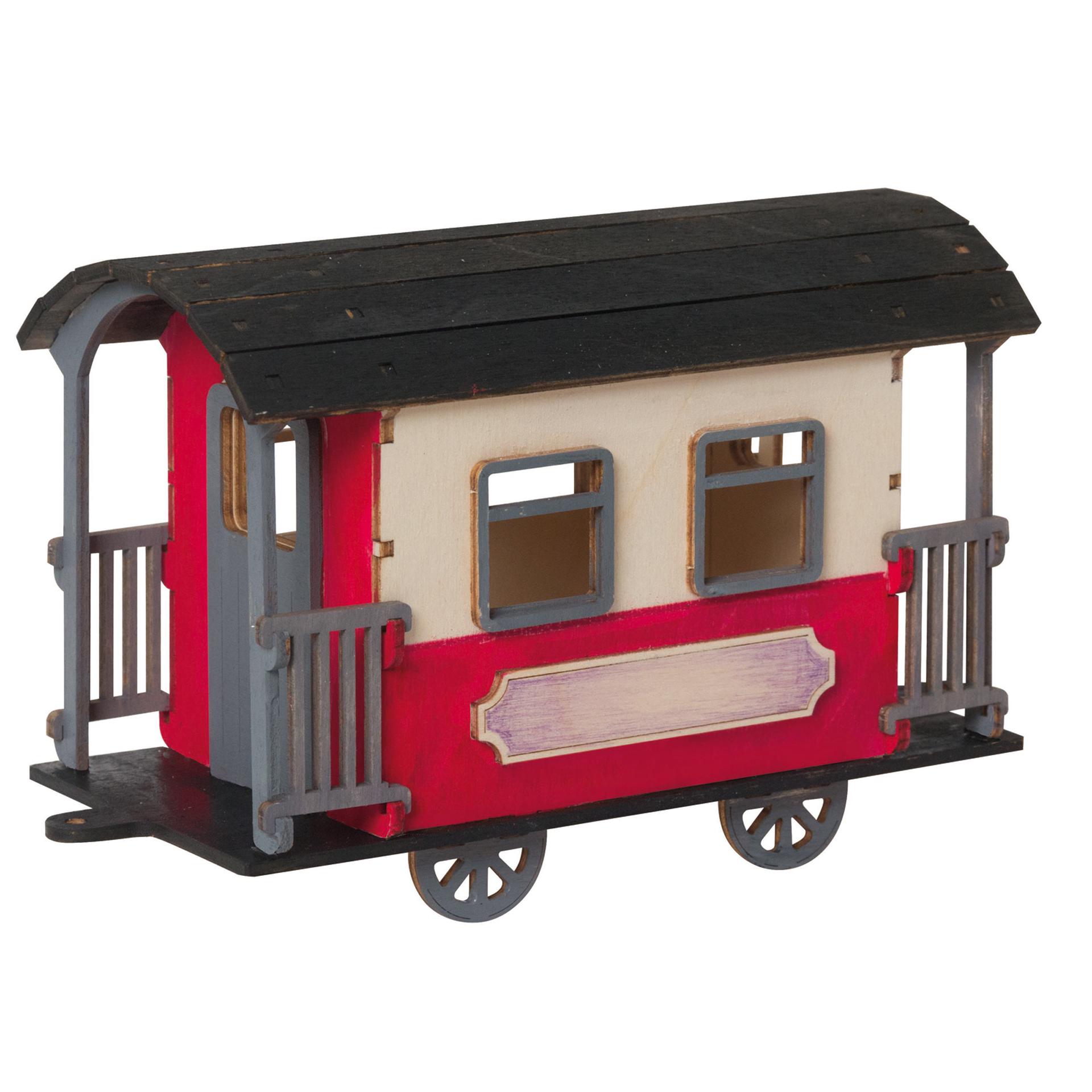 Bastelset Eisenbahnwaggon