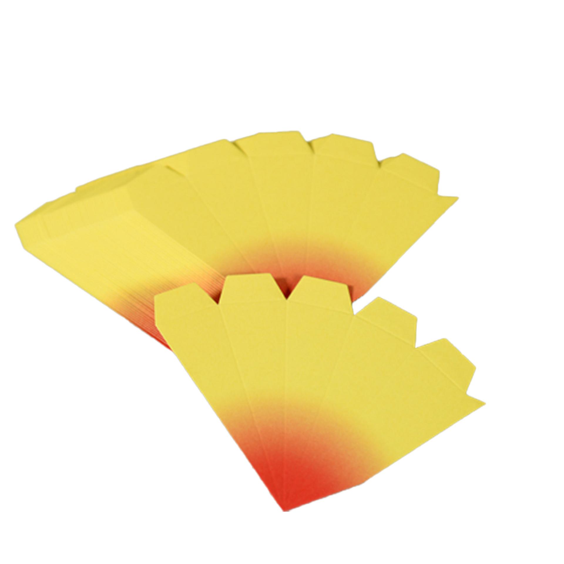 Bausatz für Adventssterne, 3er Set gelb mit roten Spitzen