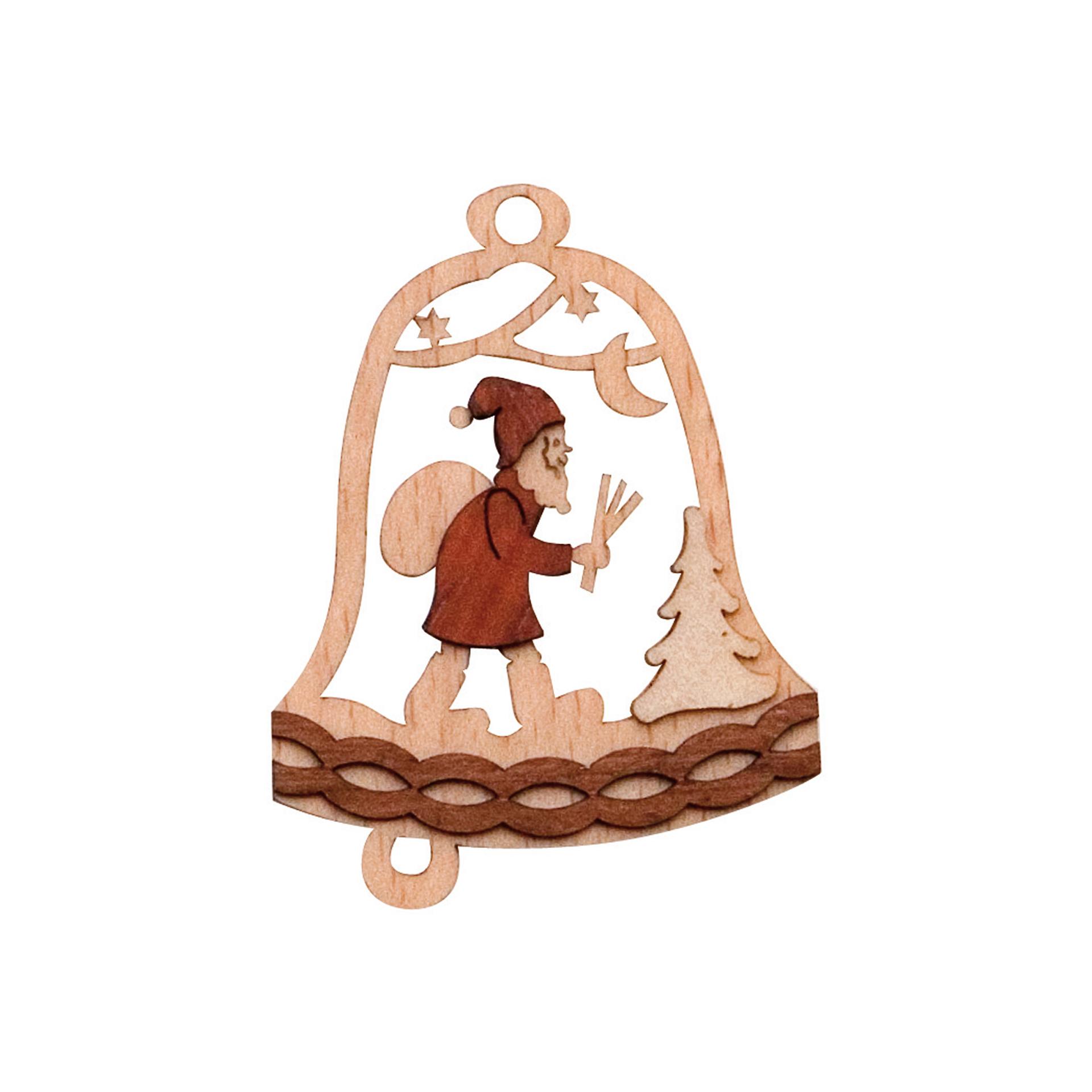 Baumschmuck Glocke mit Weihnachtsmann