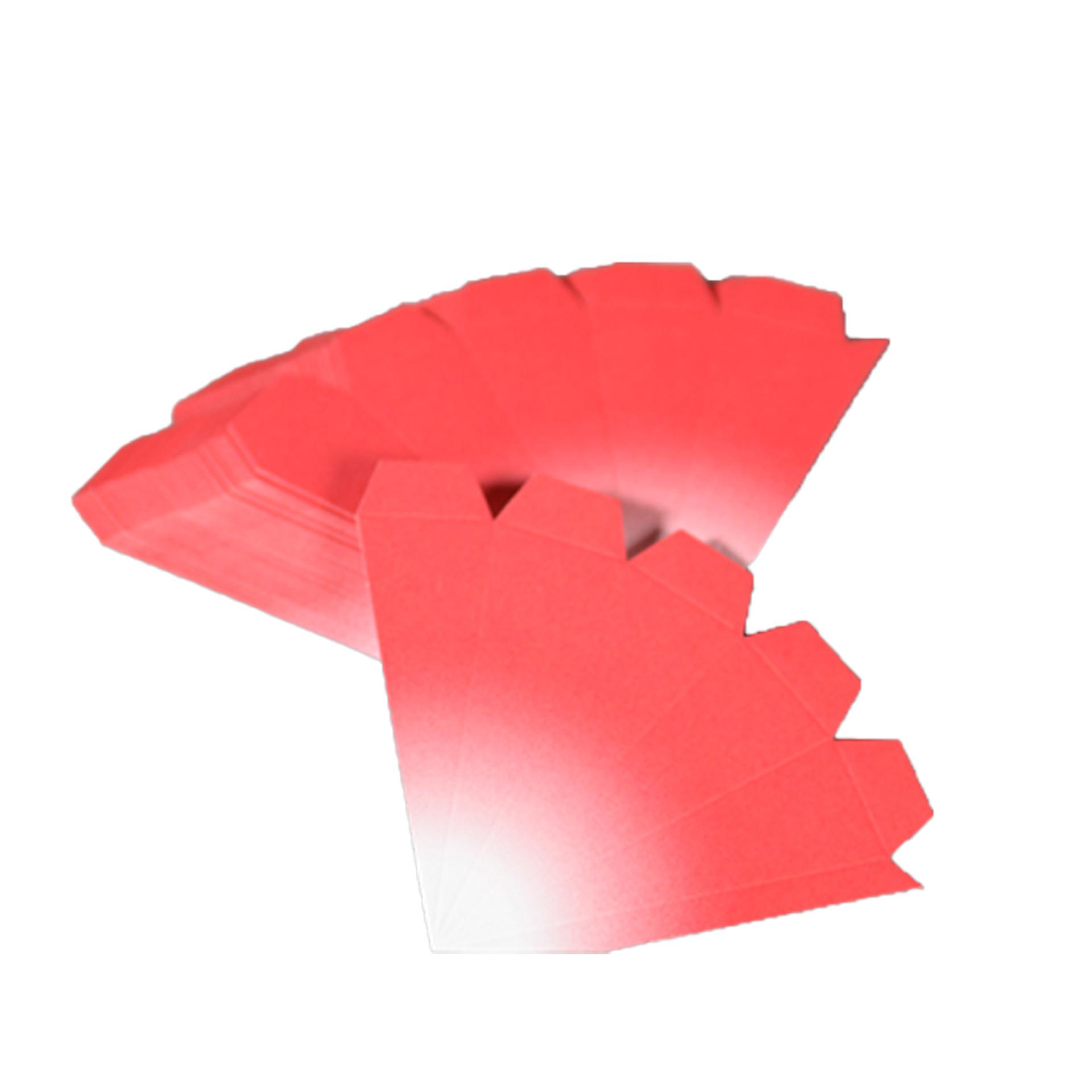 Bausatz für Adventssterne, 3er Set rot mit weißen Spitzen