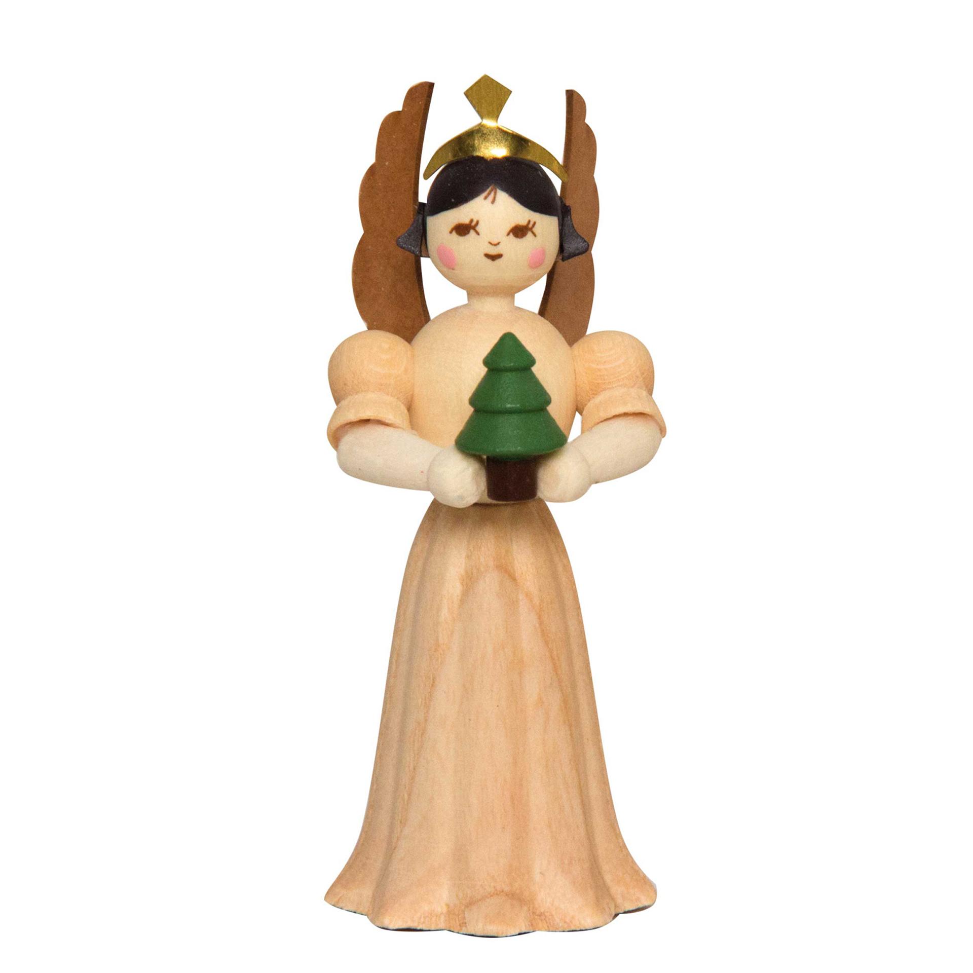 Engel mit Baum, 7cm