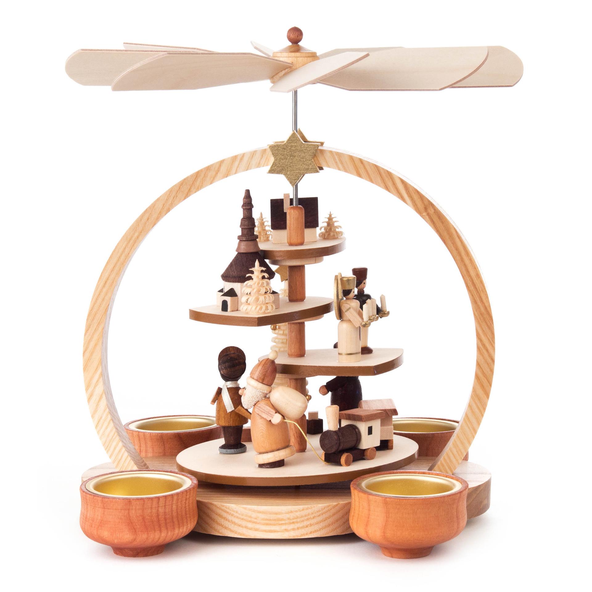 Pyramide Seiffener Weihnacht, für Teelichte