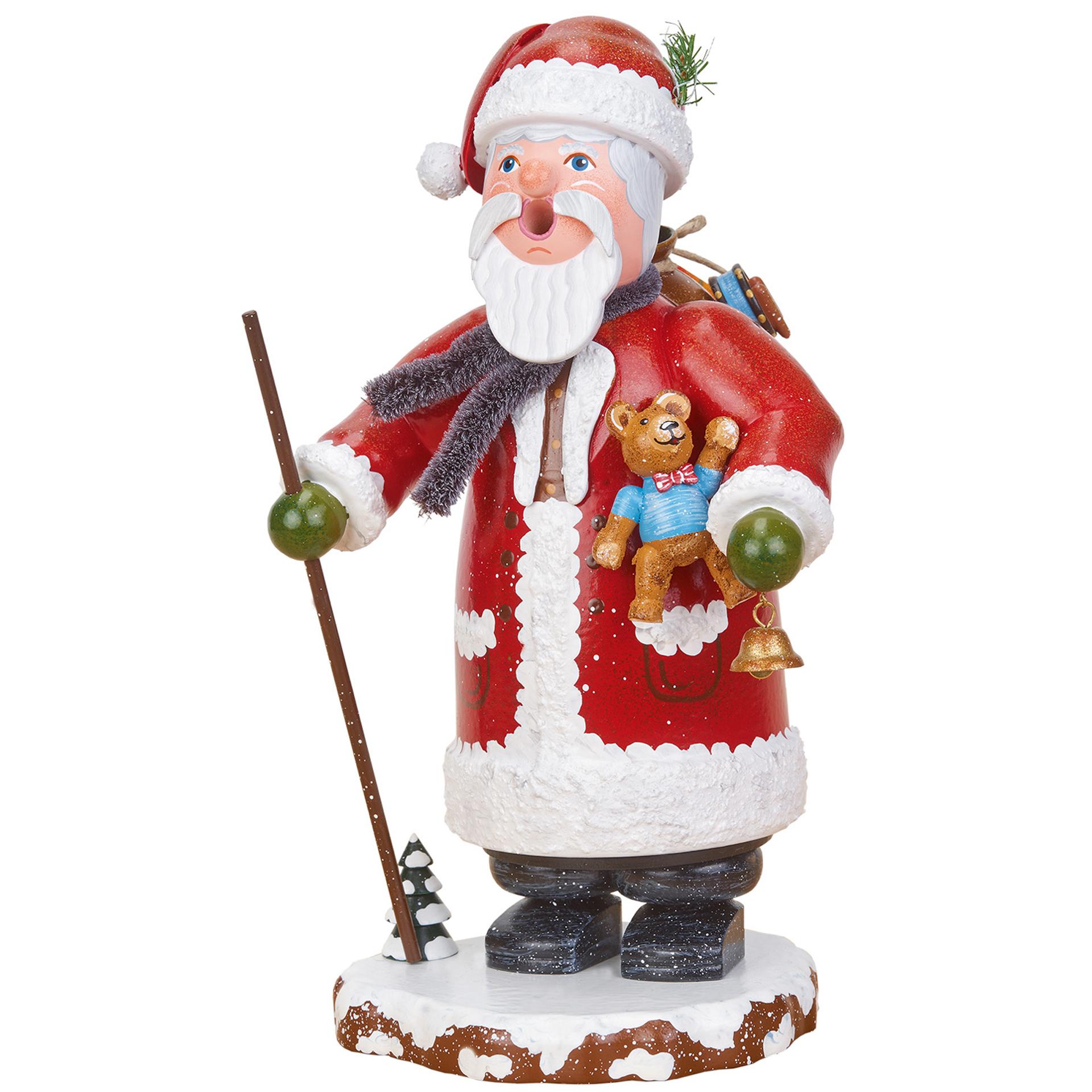Rauchfigur Winterkinder Weihnachtsmann