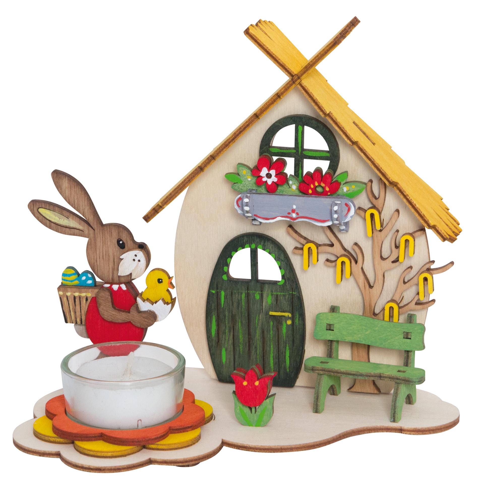 Bastelset Teelichthalter Osterhaus