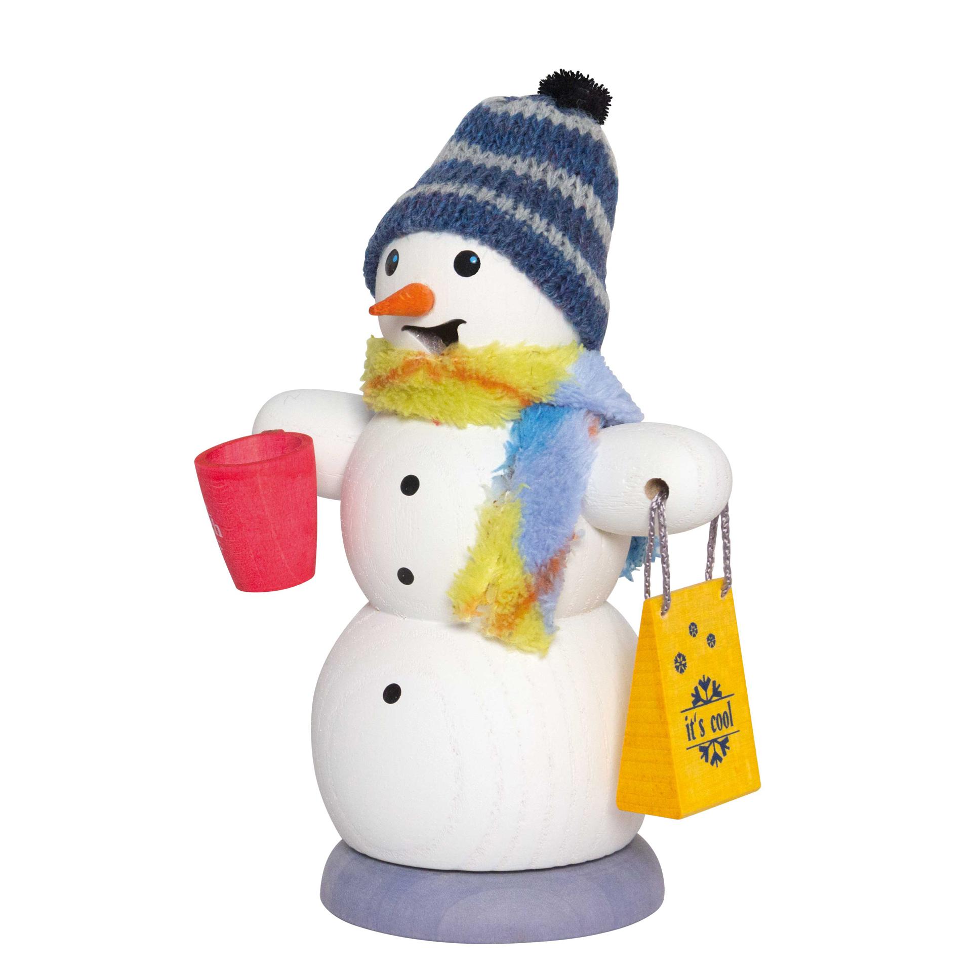 Schneemann mit Glühweintasse