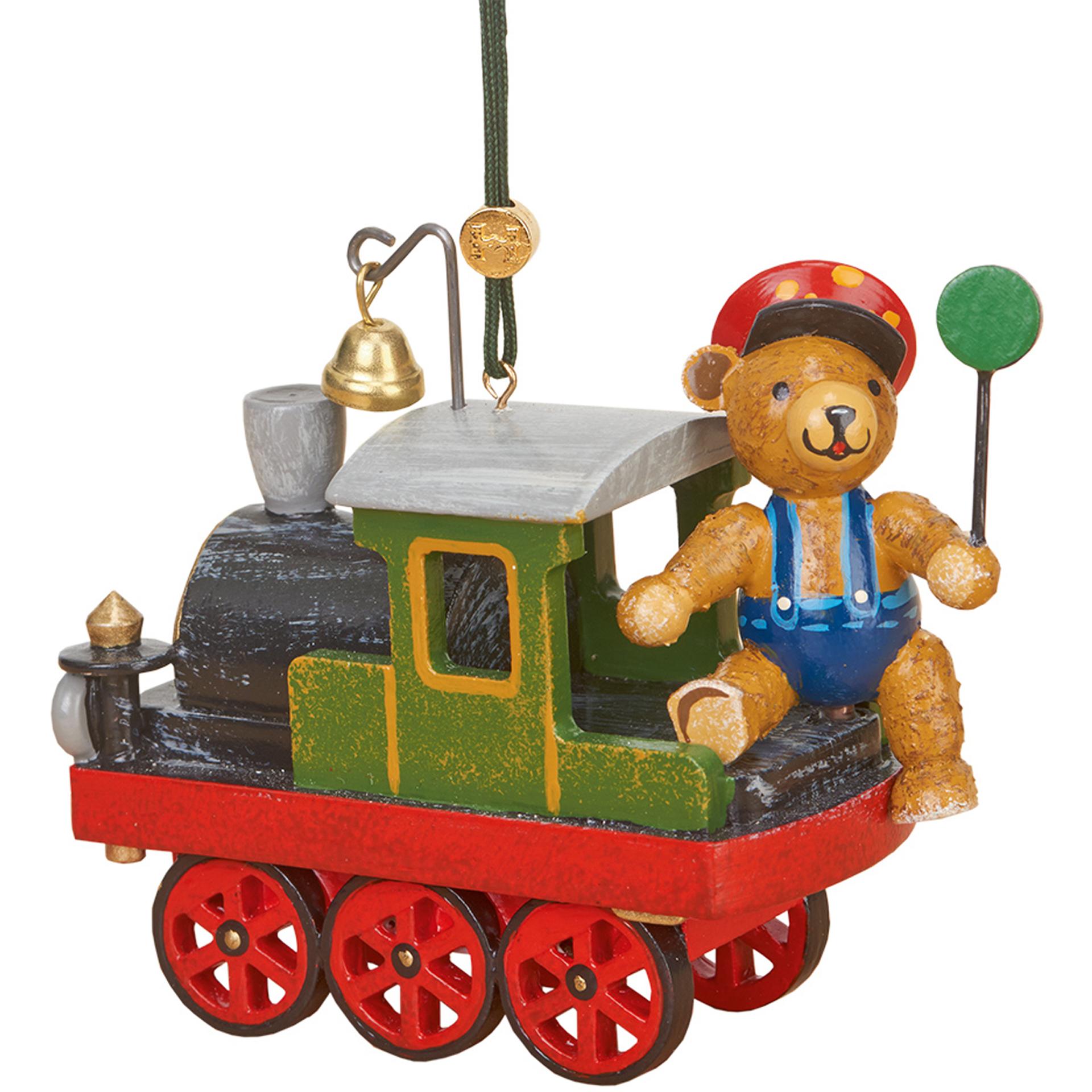 Baumschmuck Lok mit Teddy