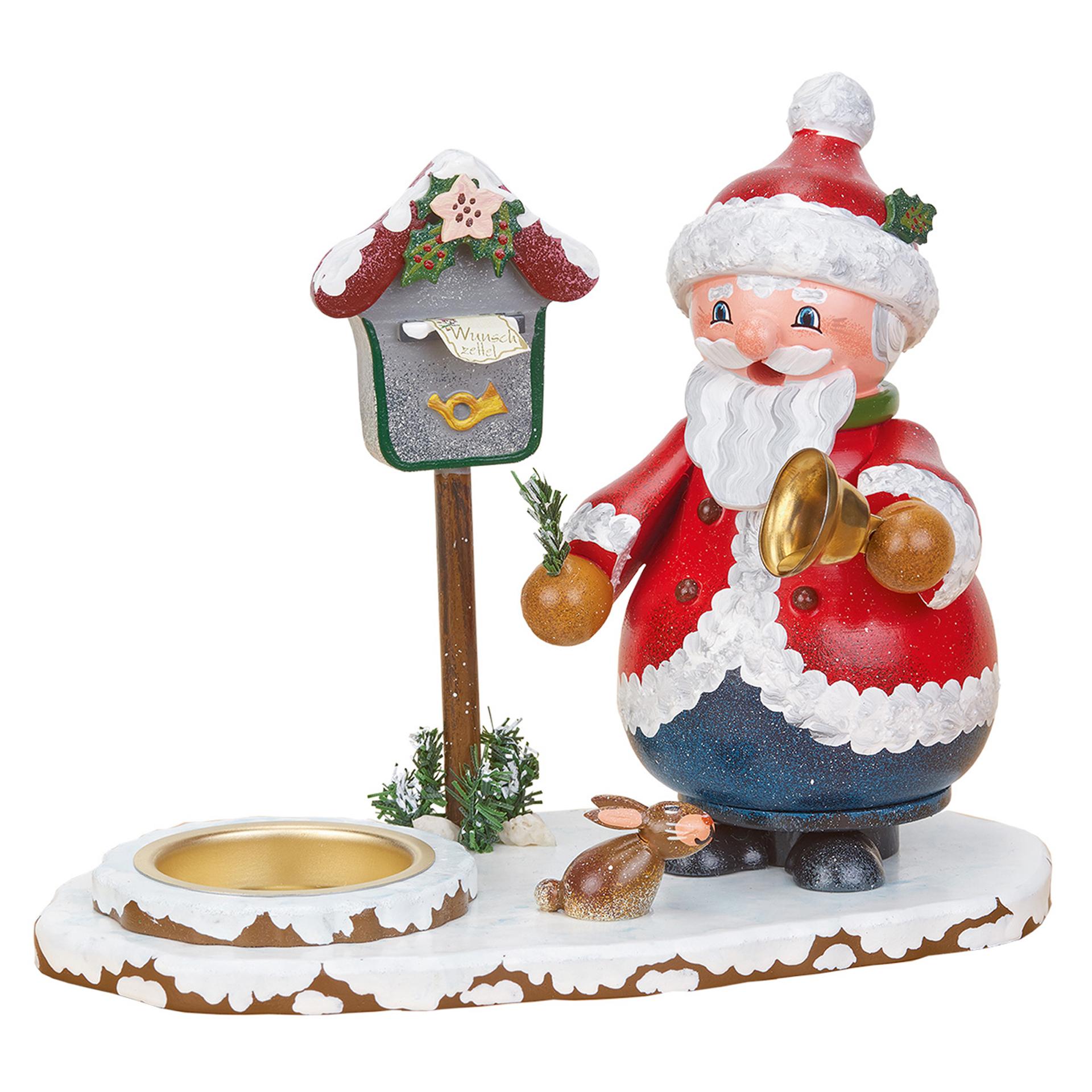 Räucherwichtel Weihnachtsmann mit Teelicht
