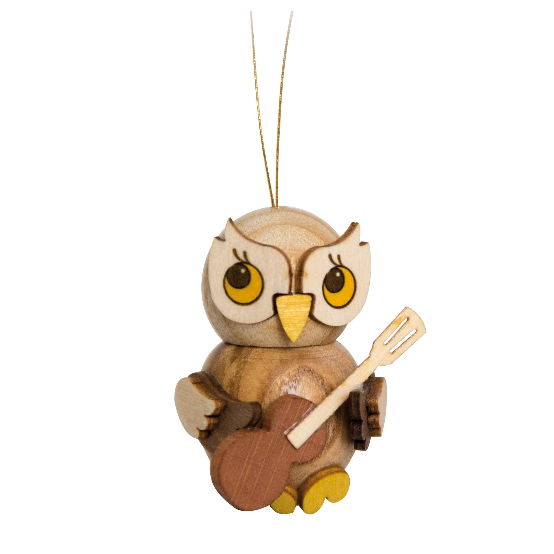 Baumschmuck Eulenkind mit Gitarre